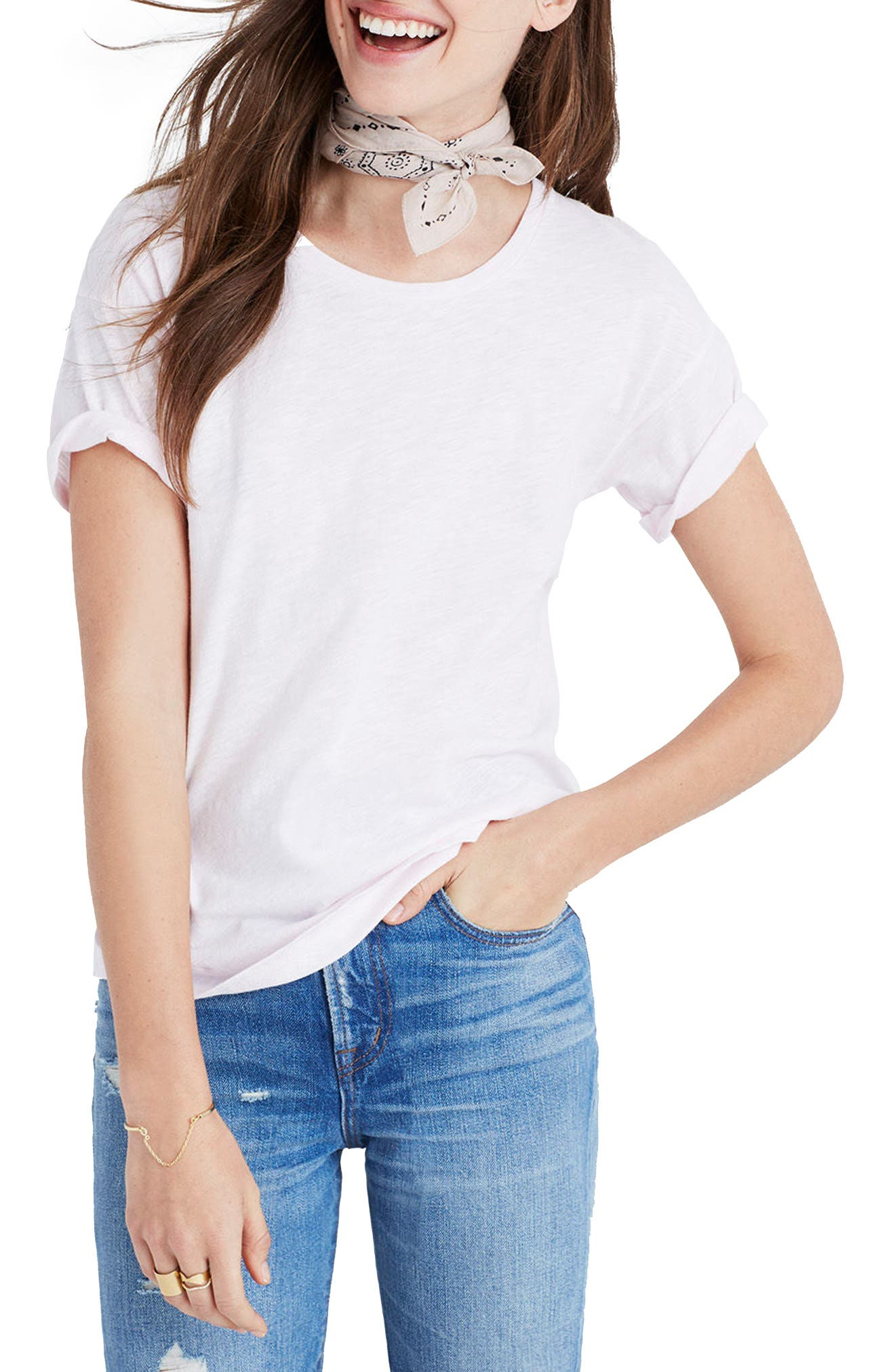 Whisper Cotton V-Neck Pocket Tee,                             Alternate thumbnail 76, color,