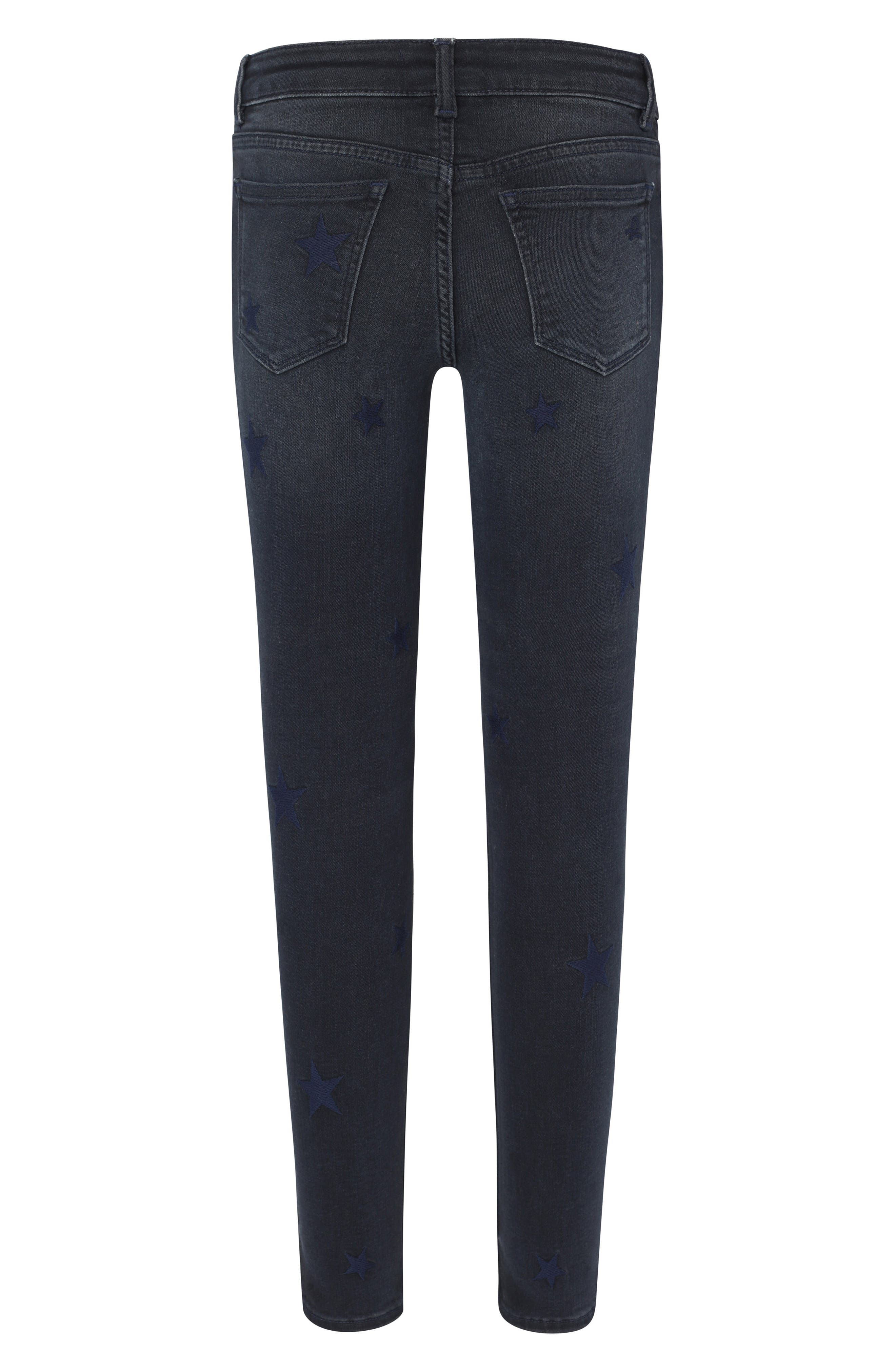 Star Embroidered Skinny Jeans,                             Alternate thumbnail 2, color,                             STARSTRUCK