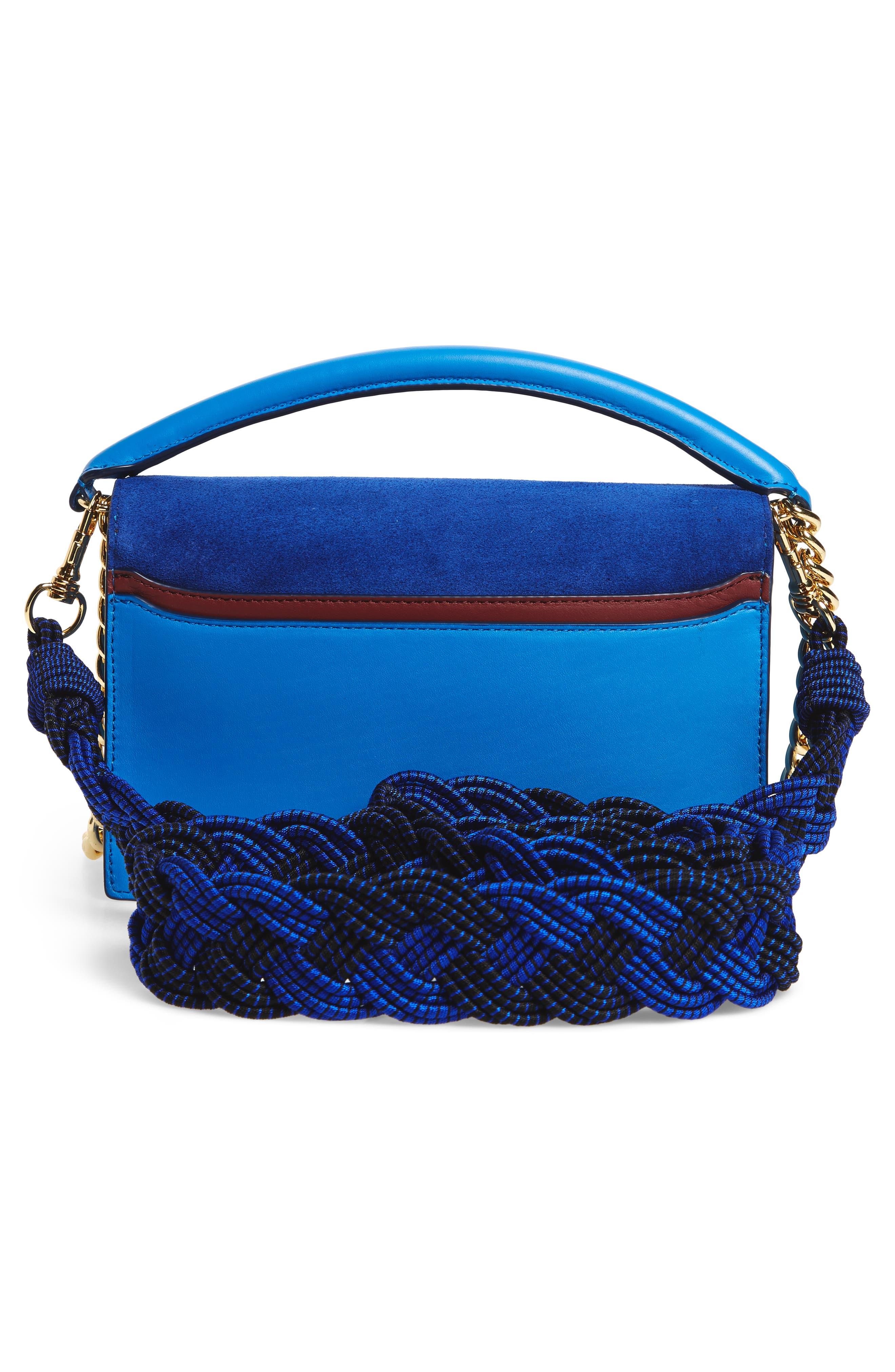Bonne Soirée Leather & Suede Top Handle Bag,                             Alternate thumbnail 3, color,                             400