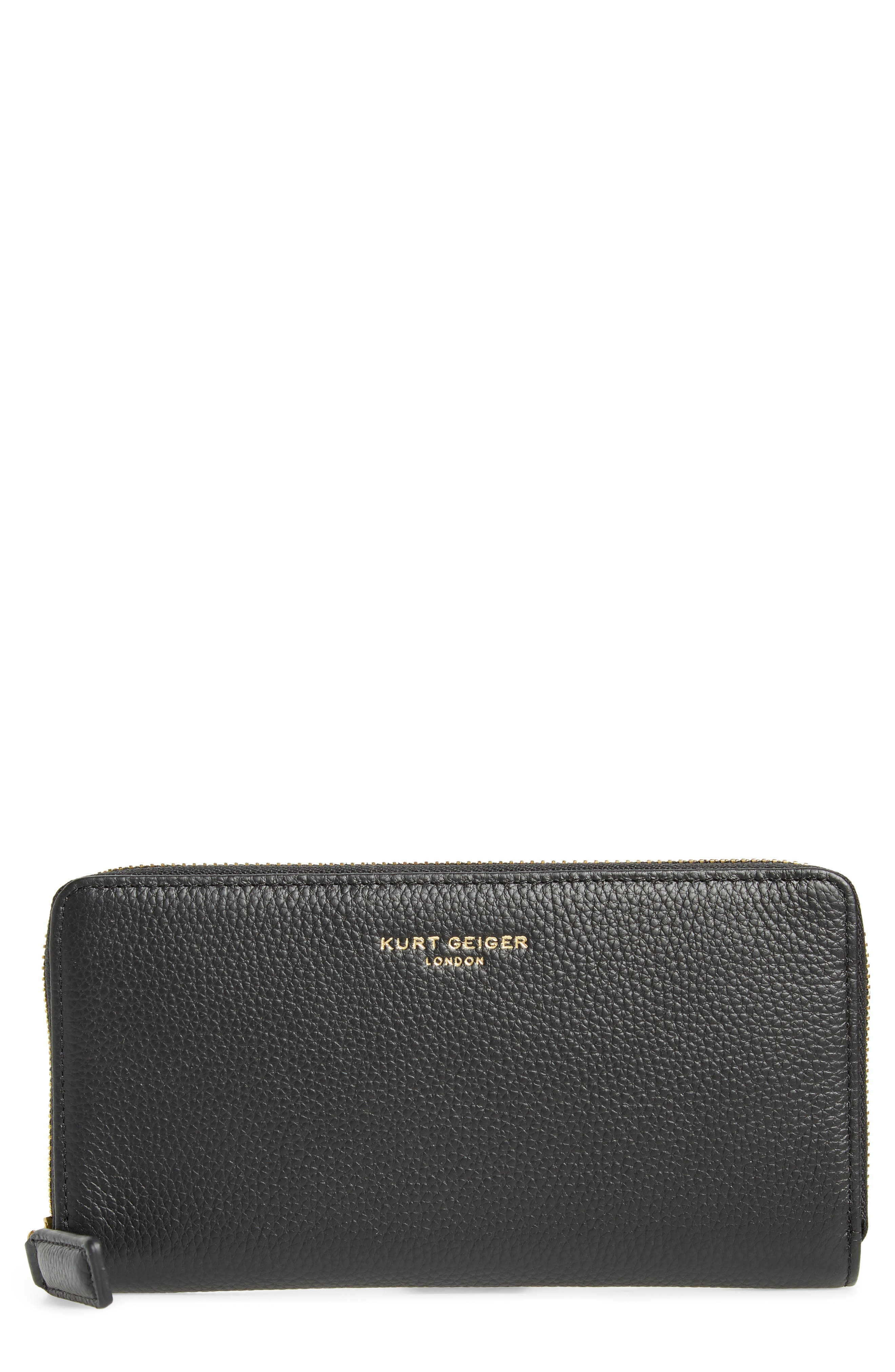 Zip Around Leather Wallet,                         Main,                         color,