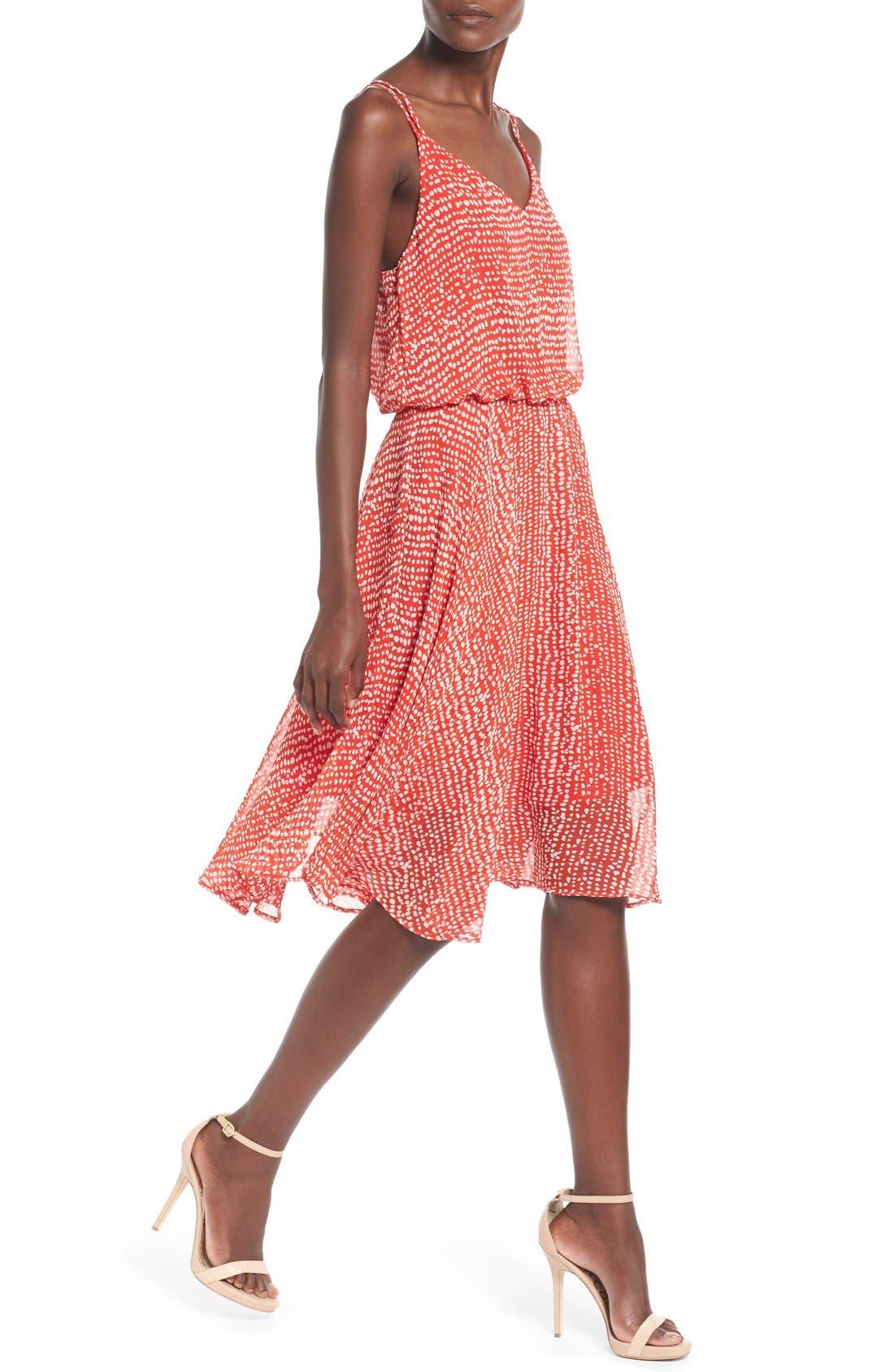 Midi Swing Dress,                             Alternate thumbnail 2, color,                             610