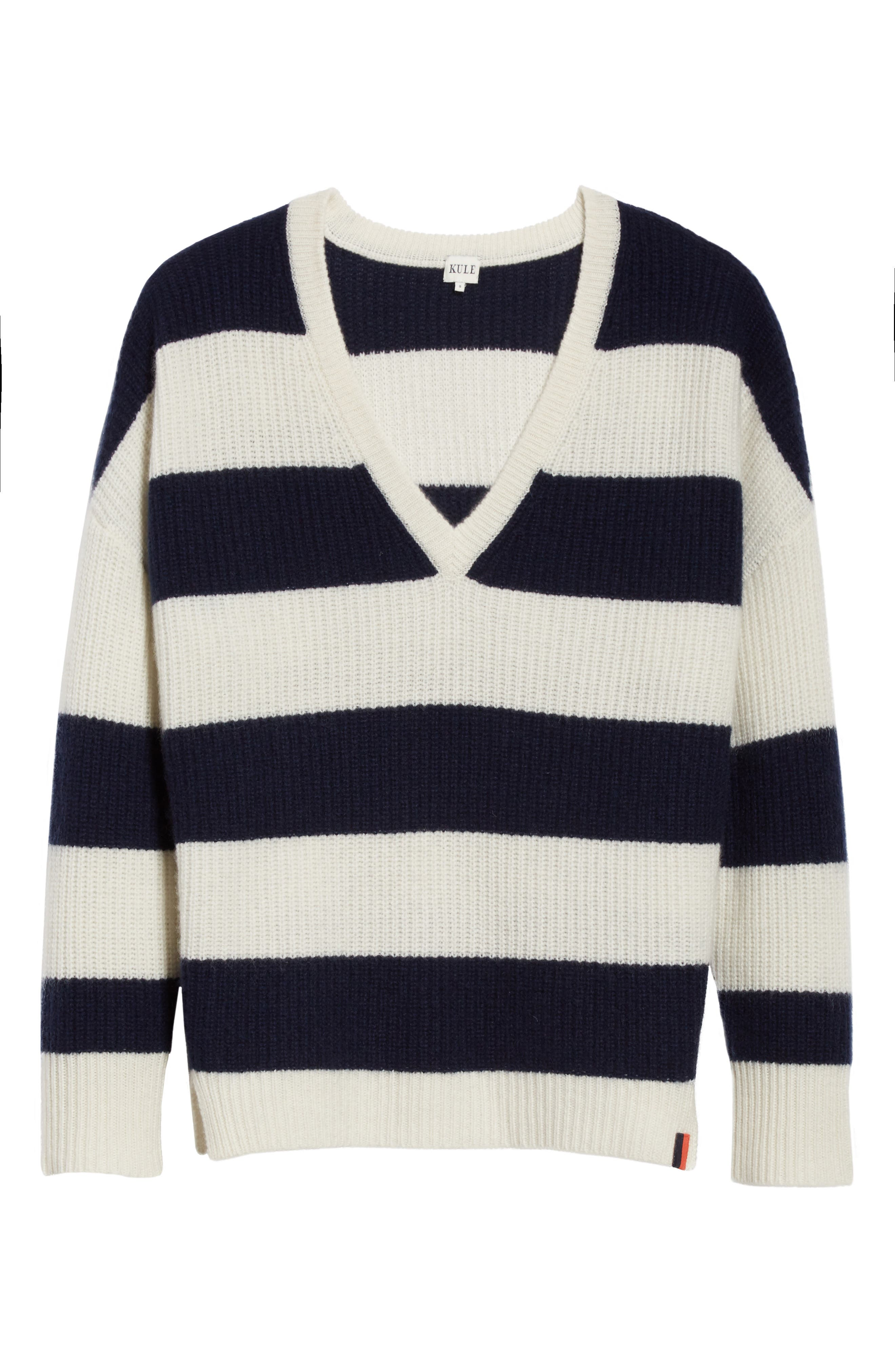 Cashmere Stripe Sweater,                             Alternate thumbnail 6, color,                             902