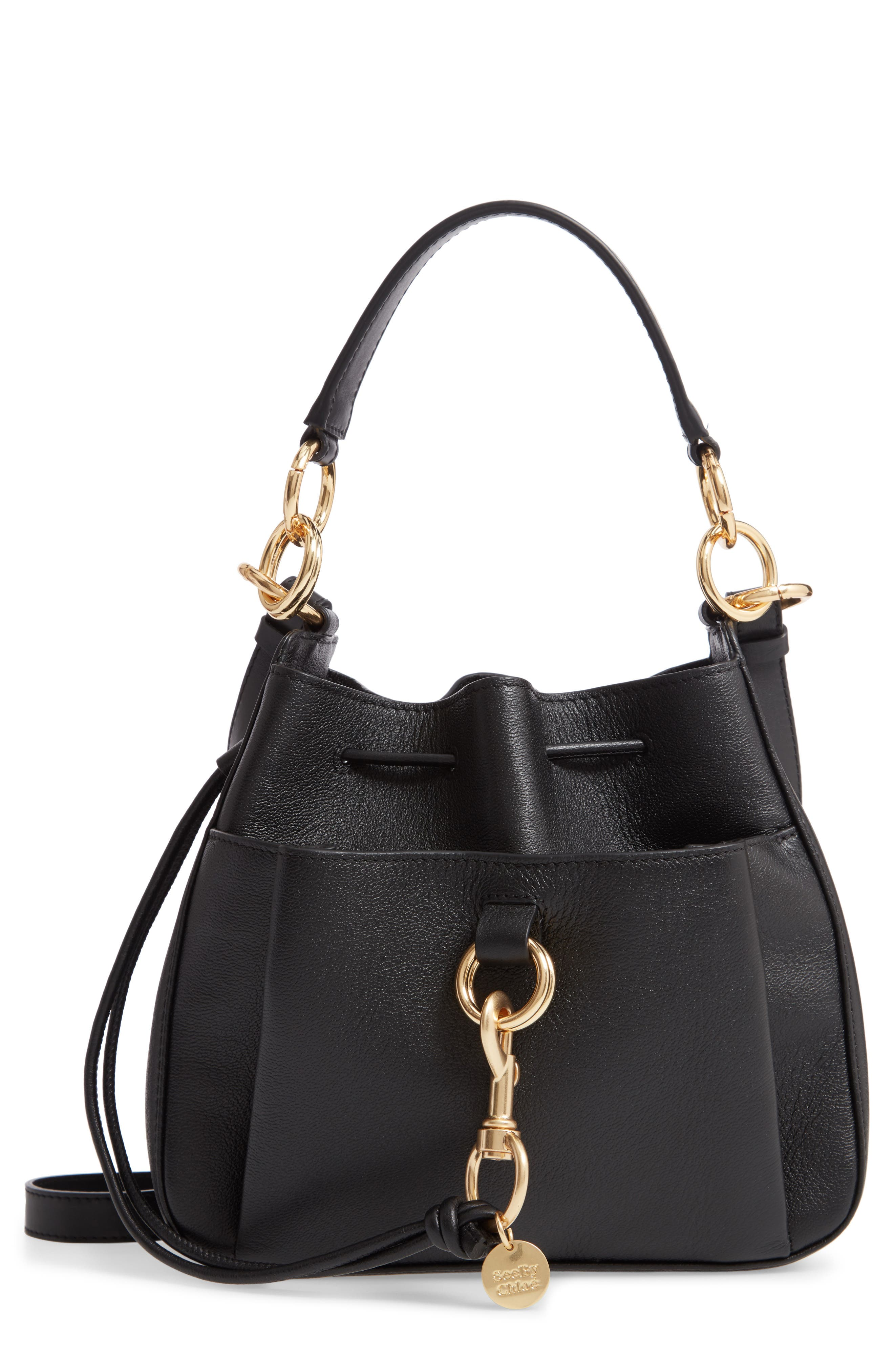See By Chloe Tony Leather Bucket Bag -