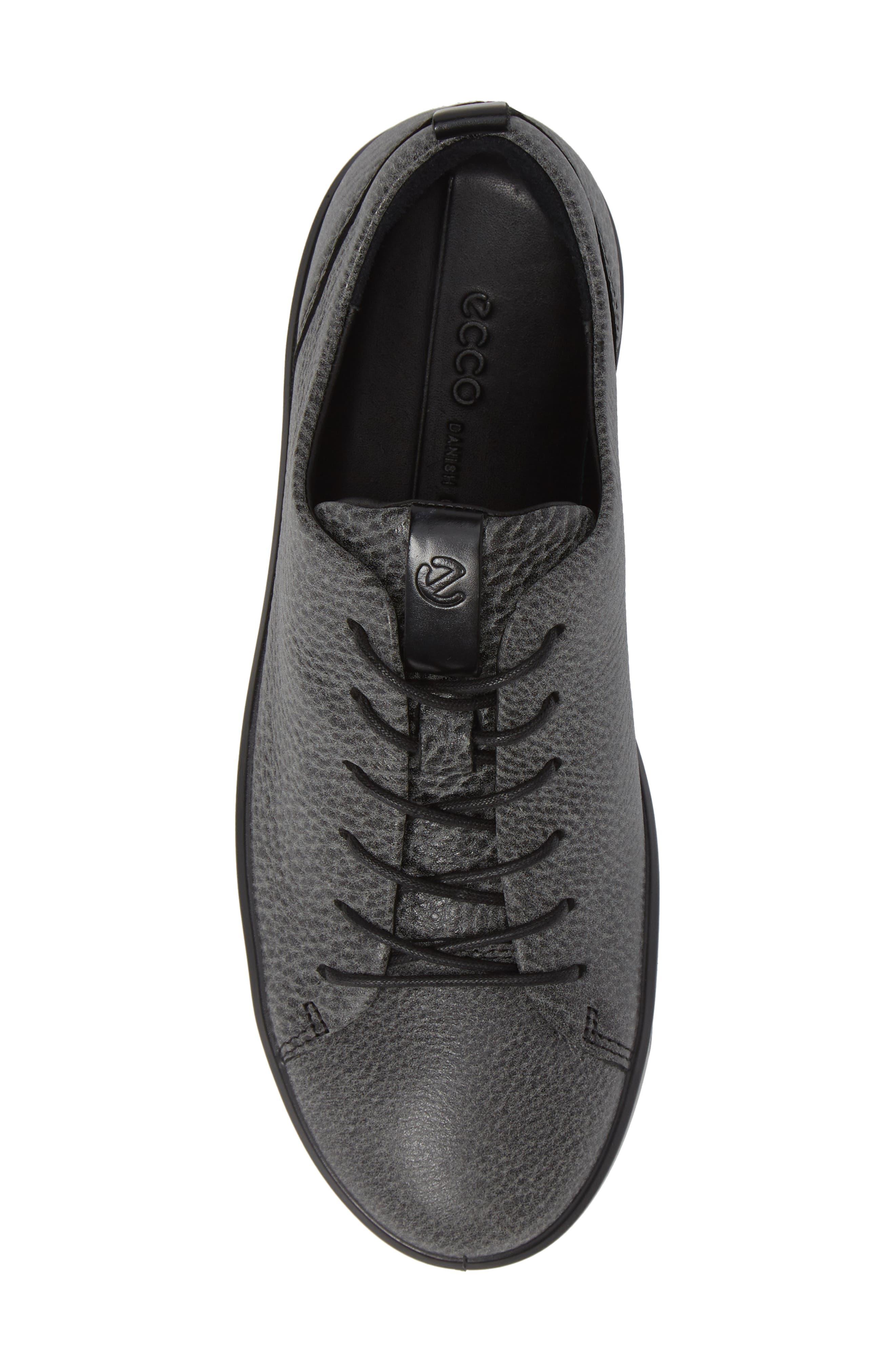 Soft 8 Sneaker,                             Alternate thumbnail 5, color,                             BLACK/ BLACK LEATHER