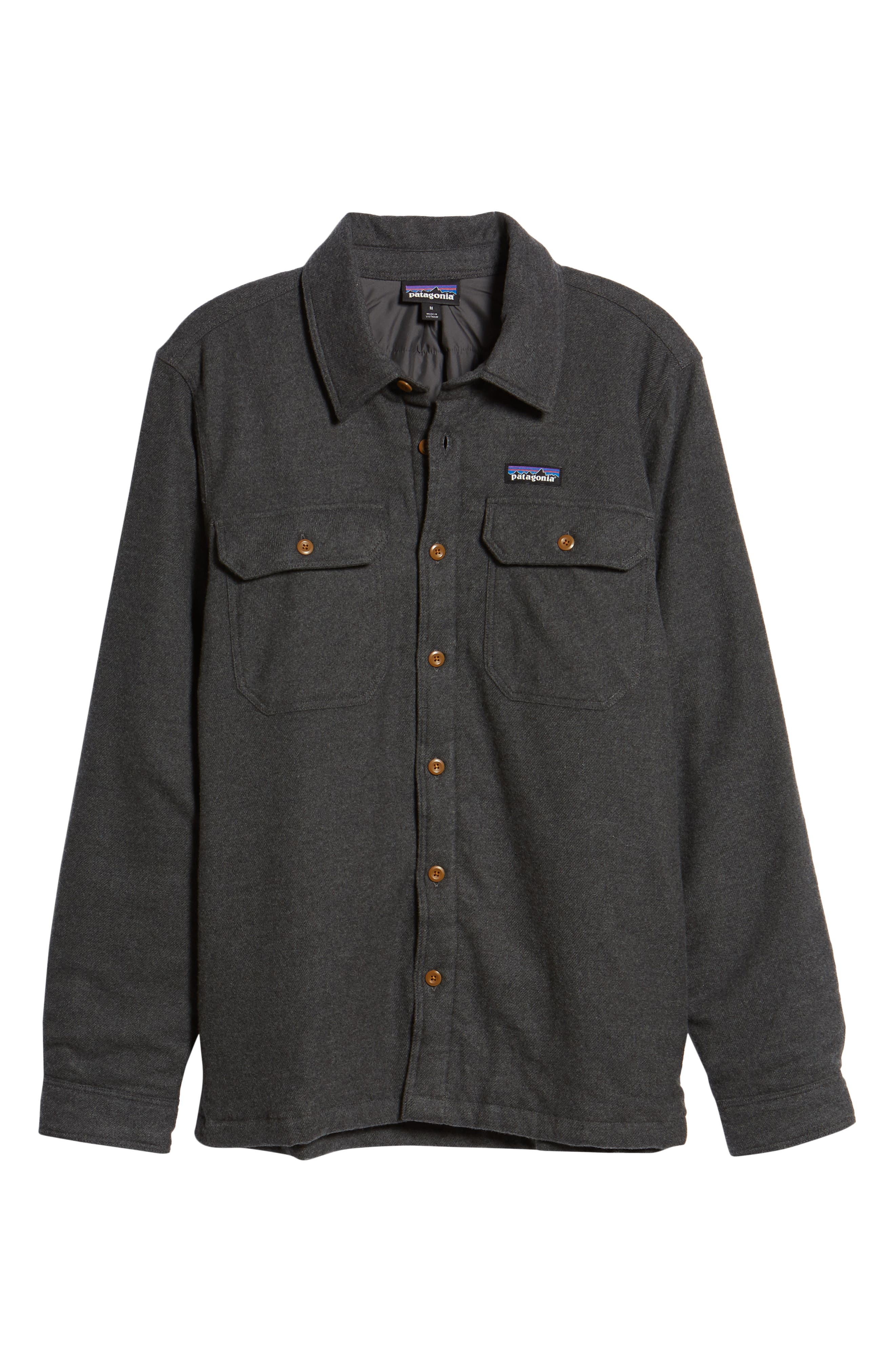 'Fjord' Flannel Shirt Jacket,                             Alternate thumbnail 5, color,                             FORGE GREY