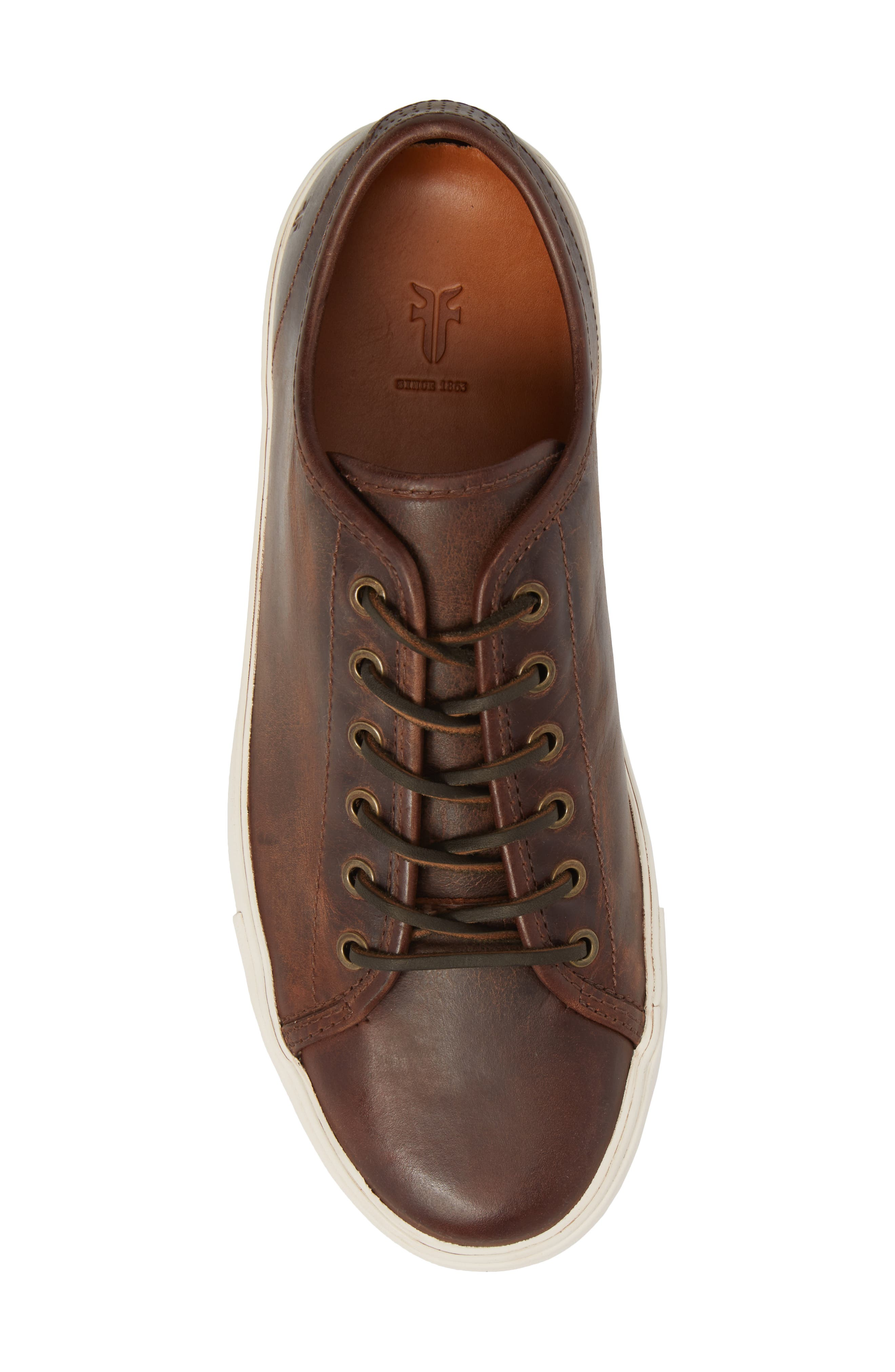 Brett Sneaker,                             Alternate thumbnail 5, color,                             REDWOOD LEATHER