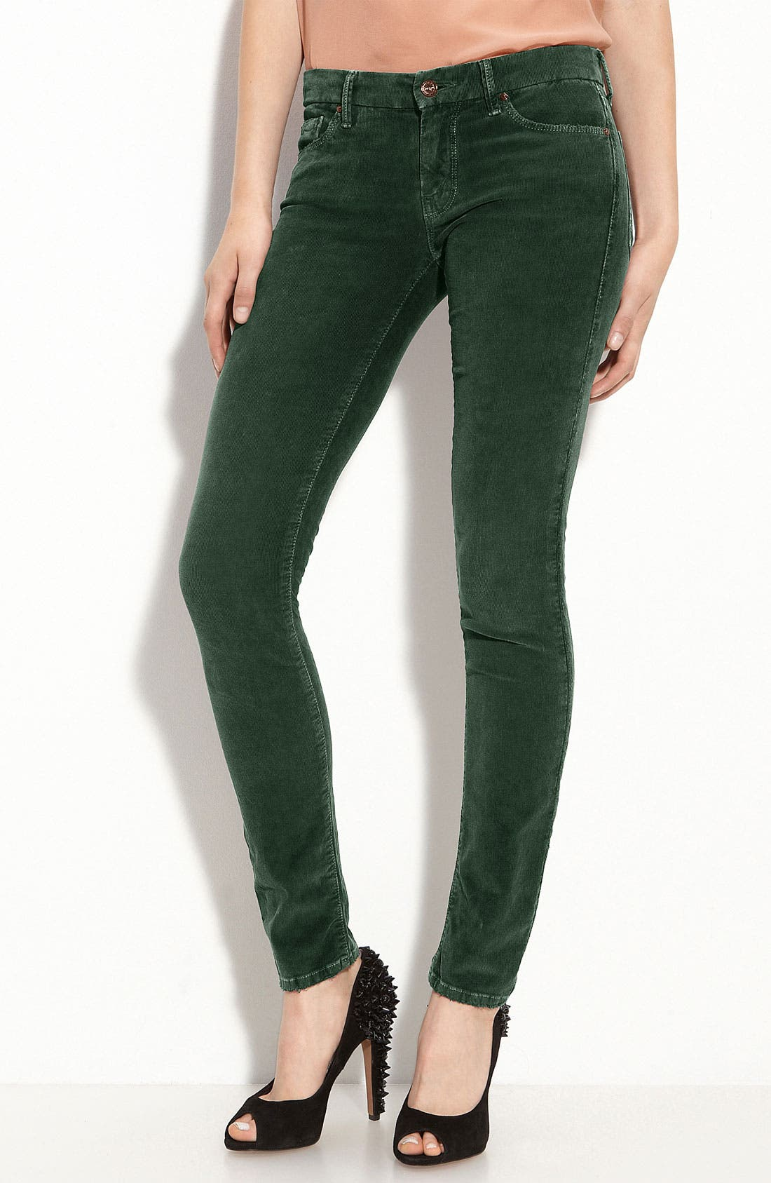 MOTHER 'The Looker' Skinny Stretch Corduroy Pants, Main, color, 300