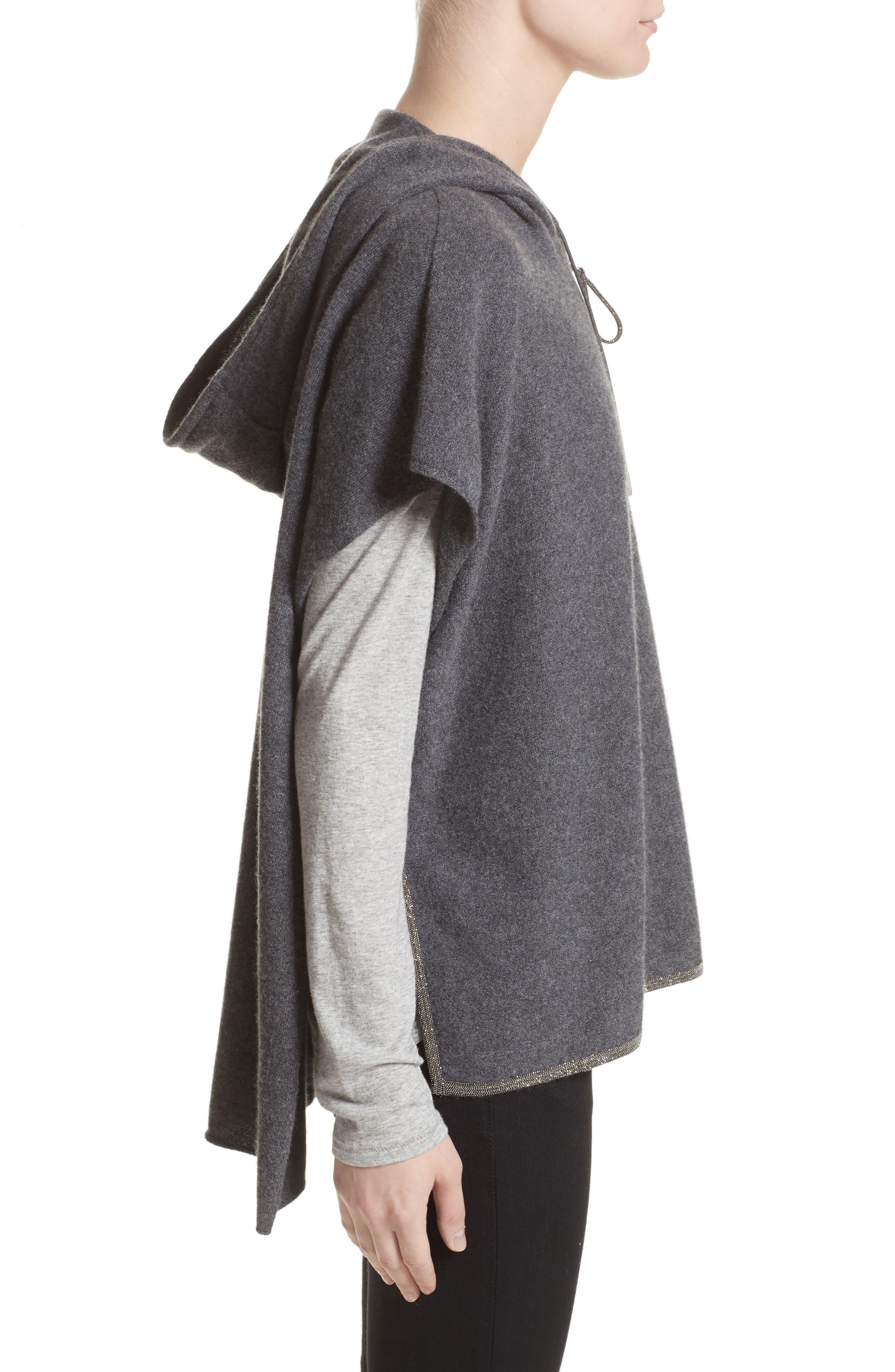 FABIANA FILIPPI,                             Cashmere Hooded Poncho,                             Alternate thumbnail 3, color,                             019