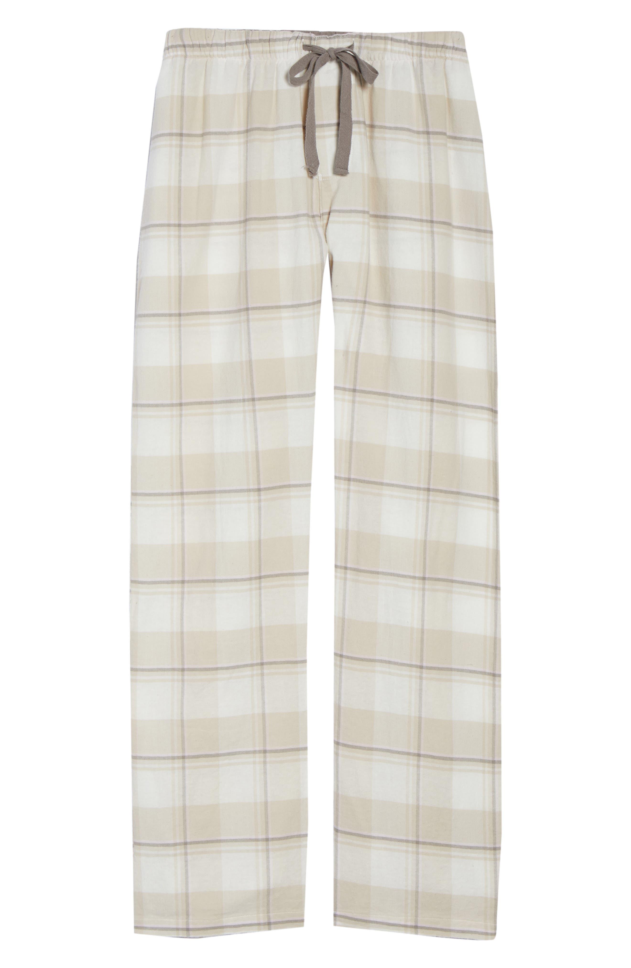 Plaid Pants,                             Alternate thumbnail 6, color,                             CHAMPAGNE