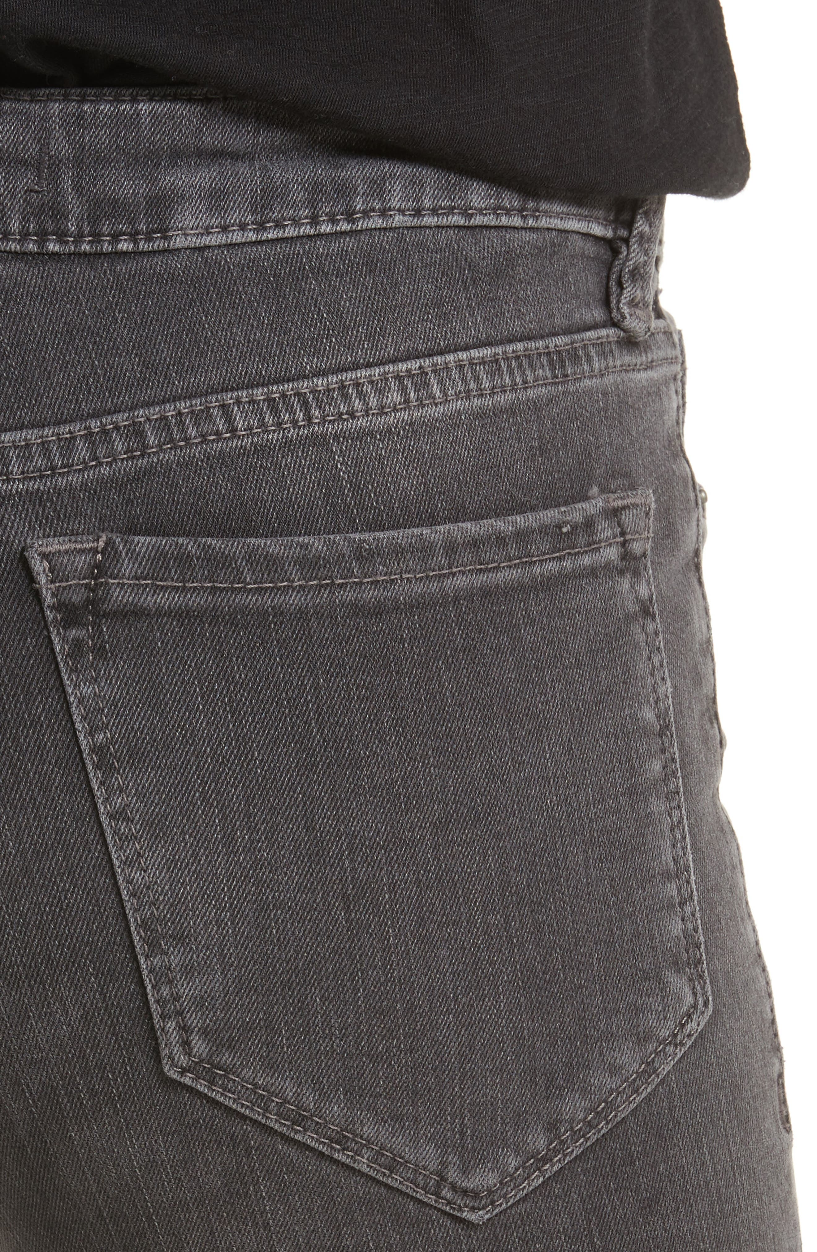 FREE PEOPLE,                             Crop Straight Leg Jeans,                             Alternate thumbnail 4, color,                             001