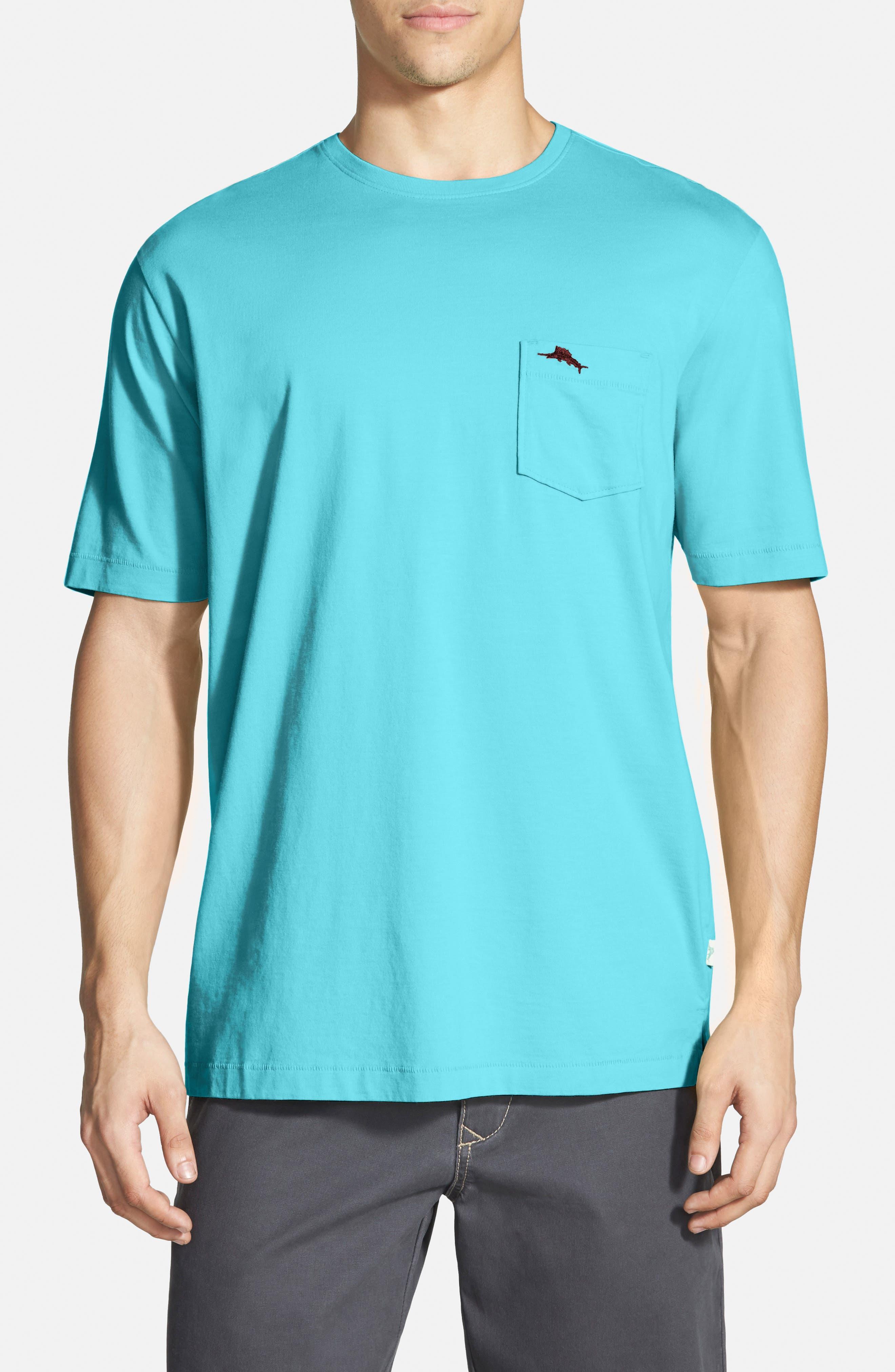 New Bali Sky Pima Cotton Pocket T-Shirt,                             Main thumbnail 37, color,