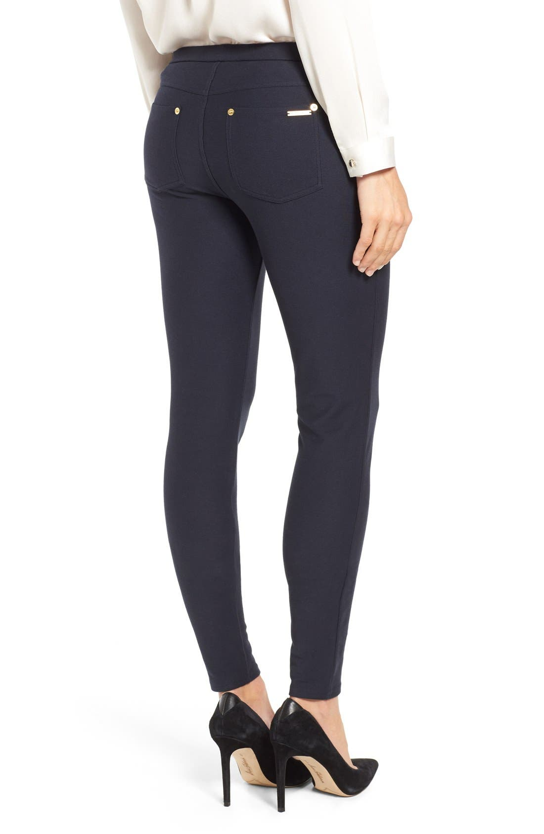 Stretch Twill Leggings,                             Alternate thumbnail 4, color,