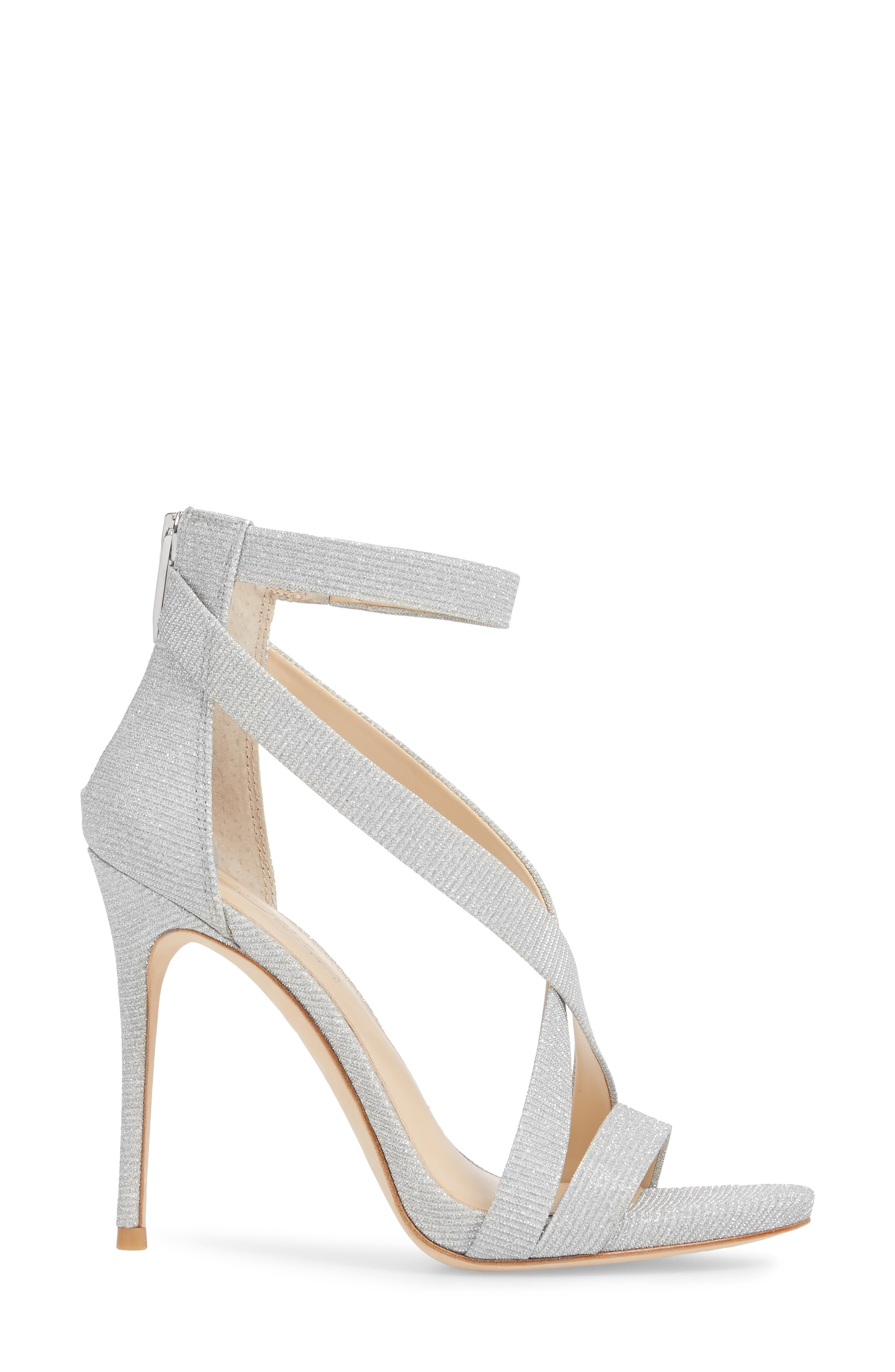 Imagine Vince Camuto 'Devin' Sandal,                             Alternate thumbnail 3, color,                             PLATINUM FABRIC
