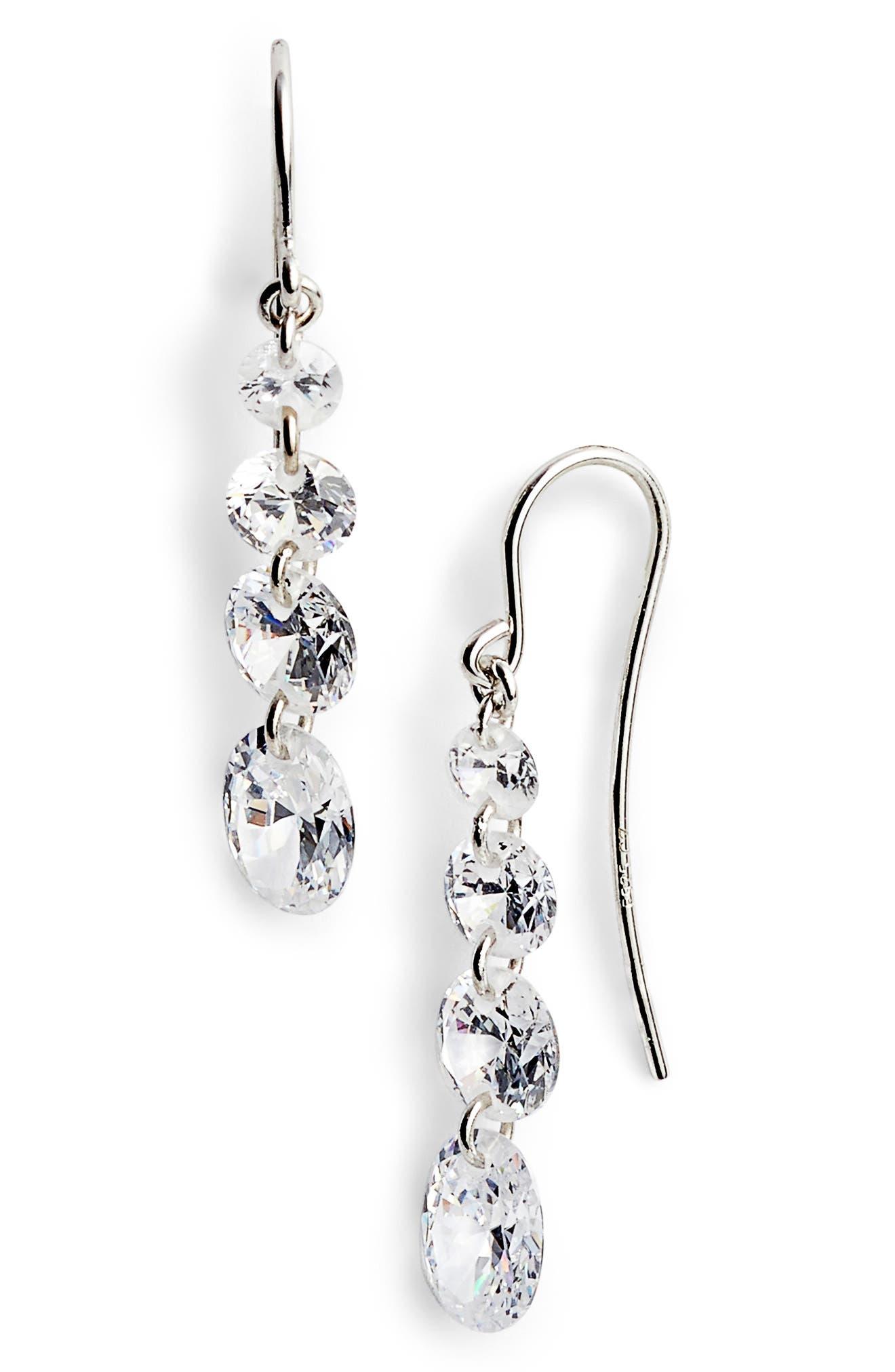 Four-Stone Briolette Drop Earrings,                             Main thumbnail 1, color,
