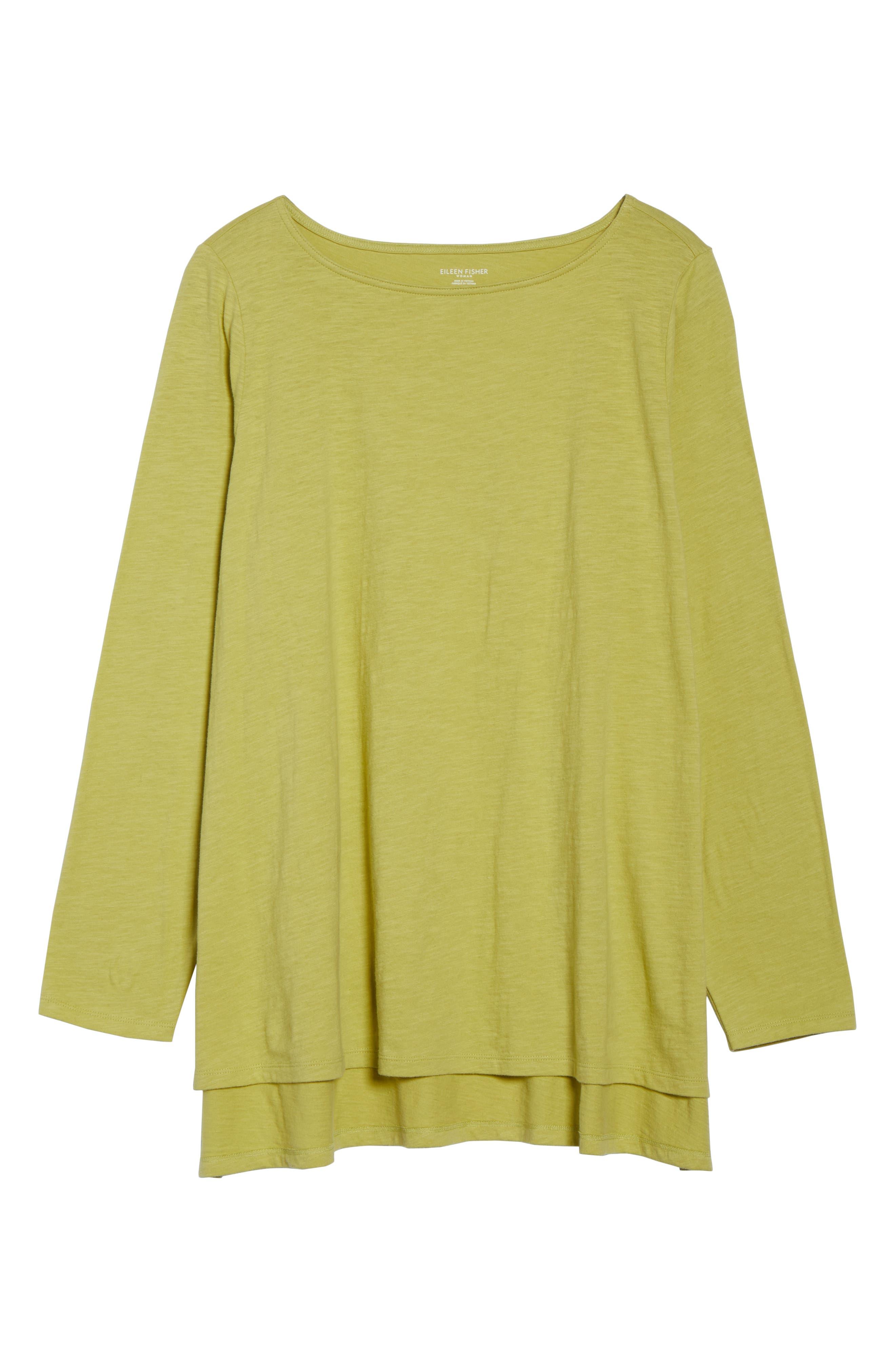 Organic Cotton Jersey Top,                             Alternate thumbnail 6, color,                             VERBENA