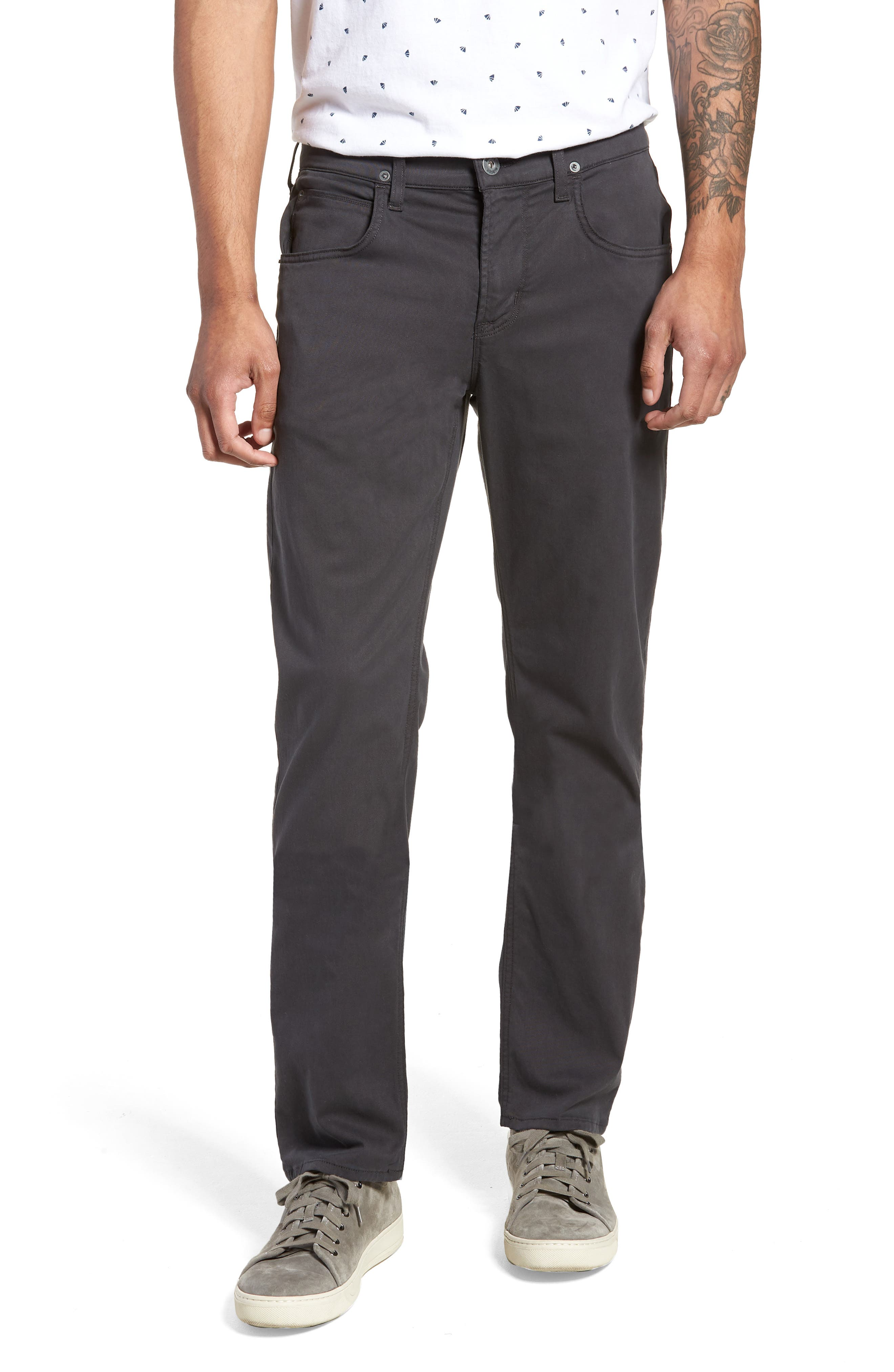 Byron Slim Straight Leg Pants,                         Main,                         color, METAL