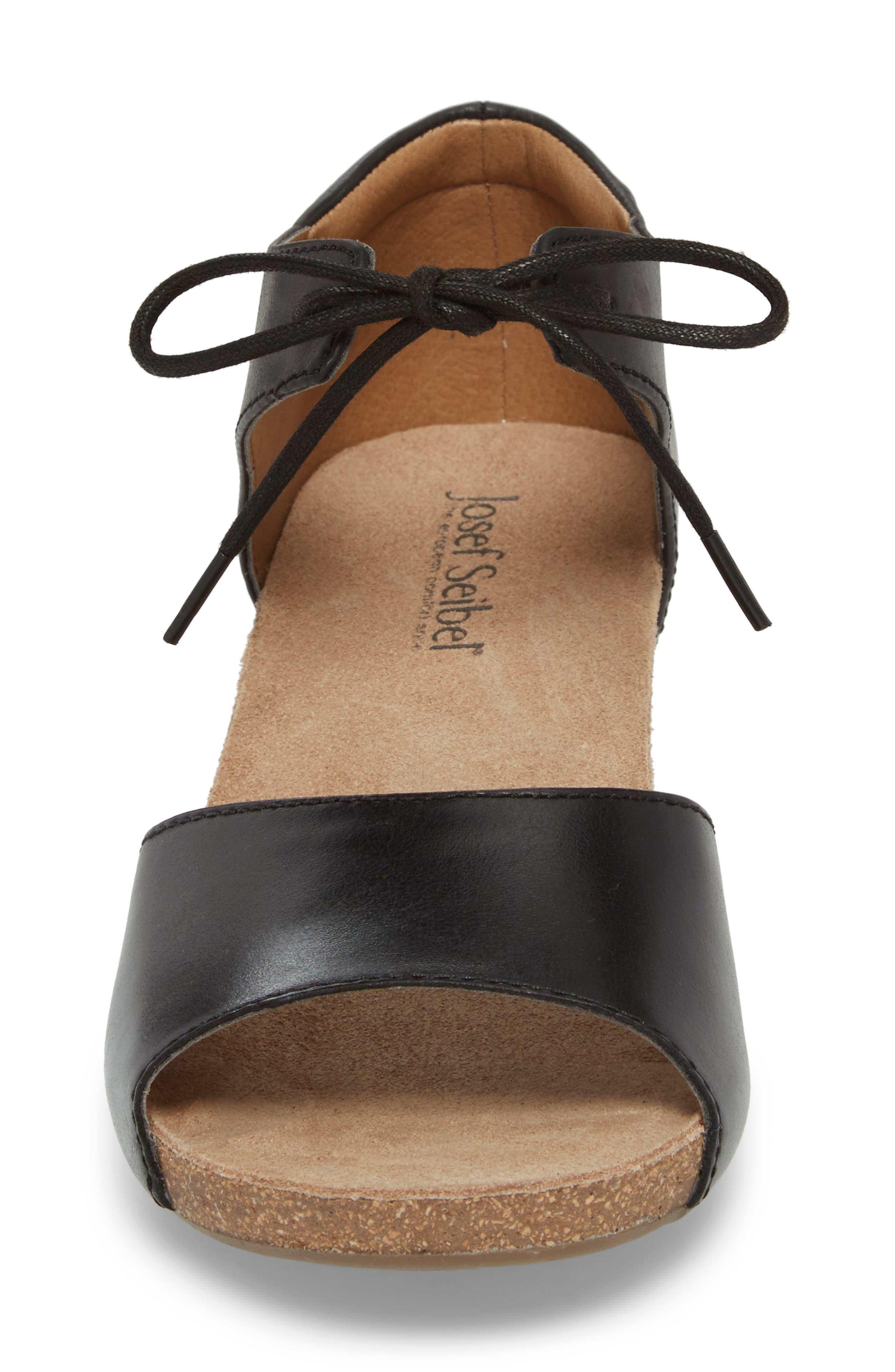 JOSEF SEIBEL,                             Rose 23 Tie Front Sandal,                             Alternate thumbnail 4, color,                             001