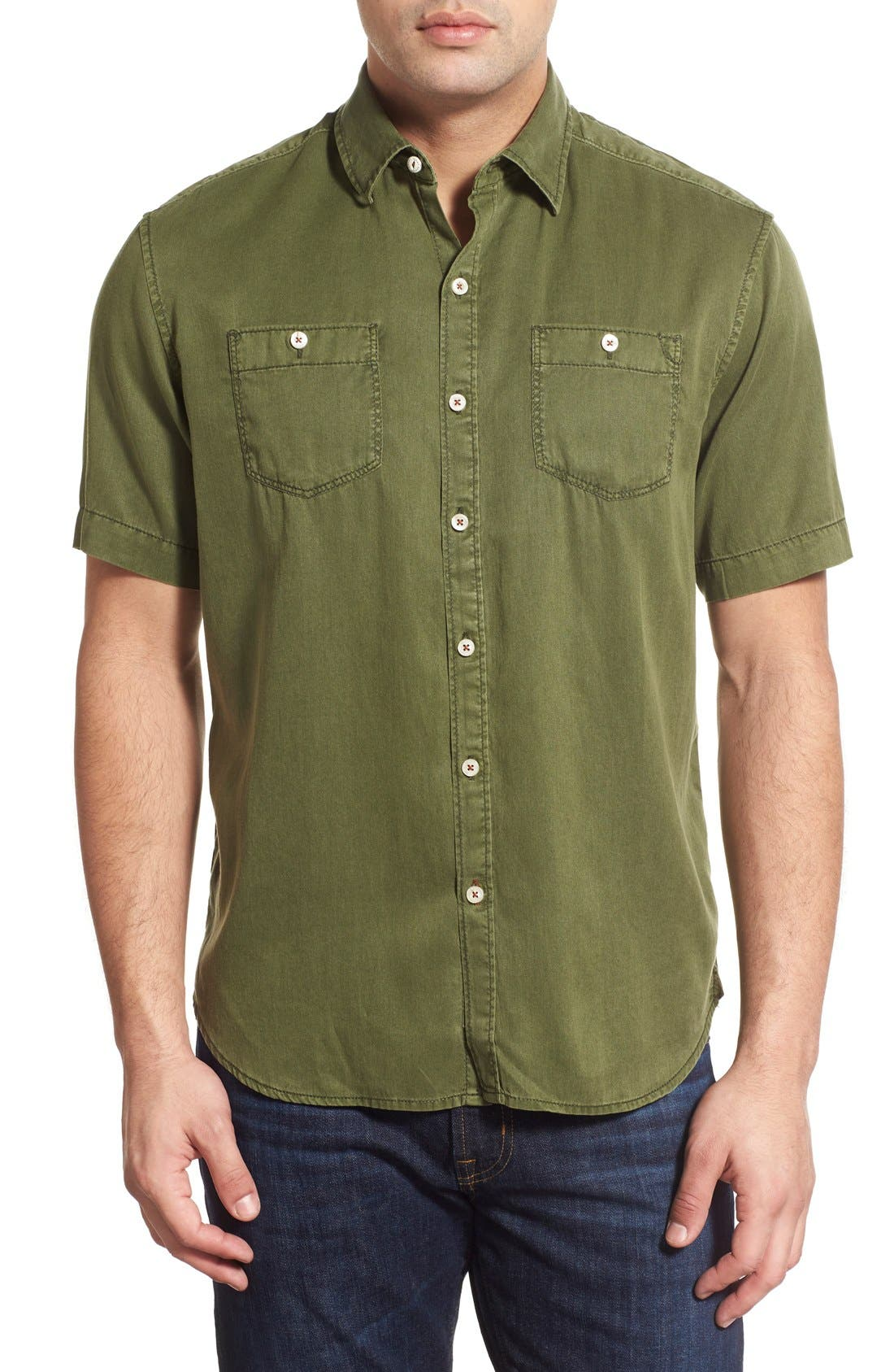 'New Twilly' Island Modern Fit Short Sleeve Twill Shirt,                             Main thumbnail 7, color,