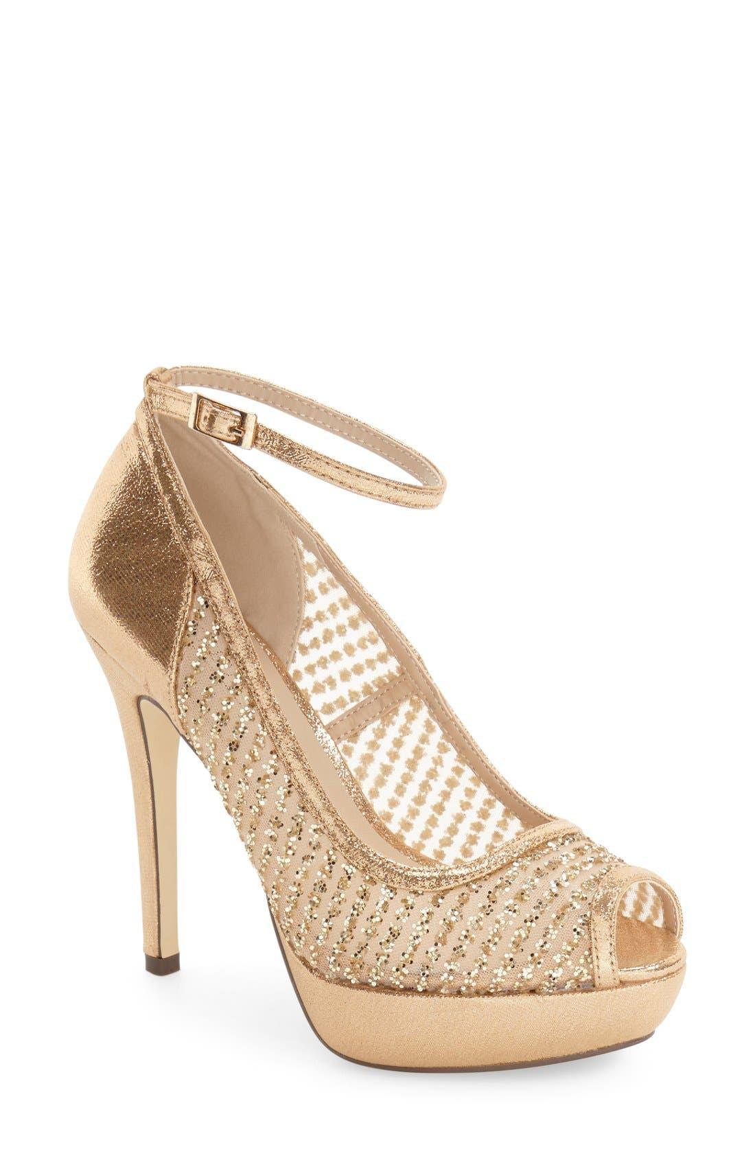 'Tambre' Glitter Platform Sandal,                             Main thumbnail 1, color,                             273