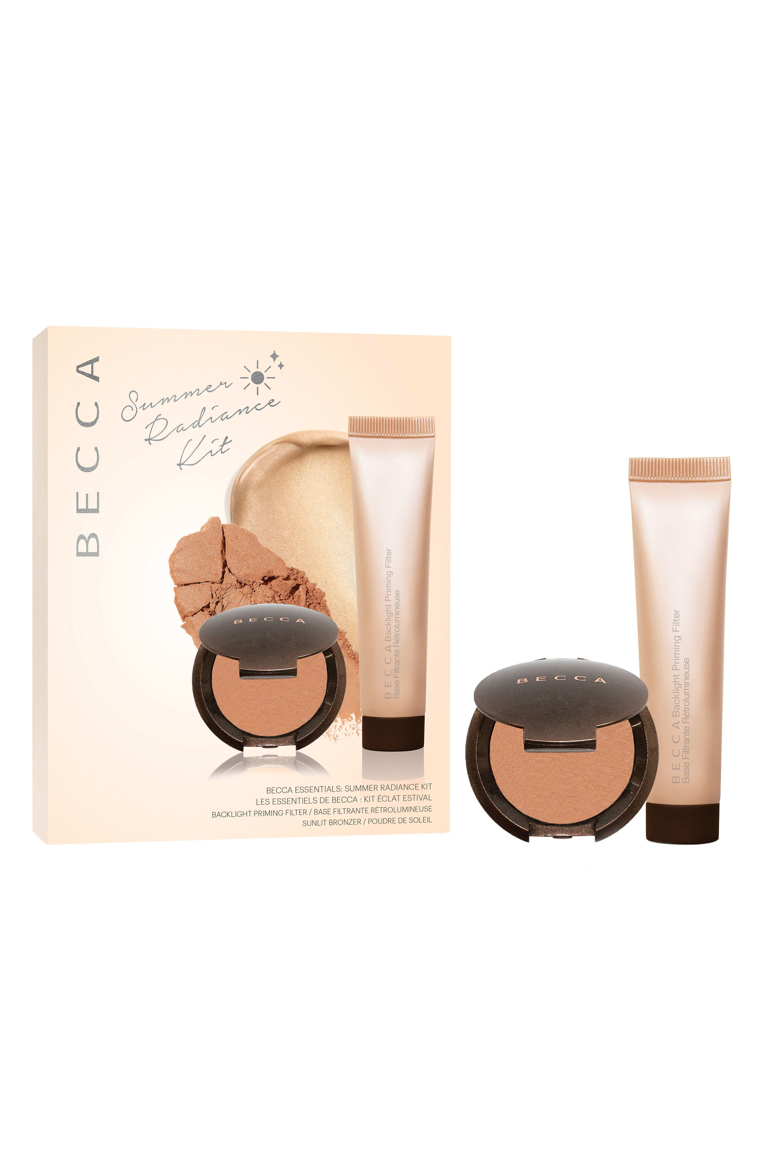BECCA Essentials Summer Radiance Kit,                             Main thumbnail 1, color,                             NO COLOR
