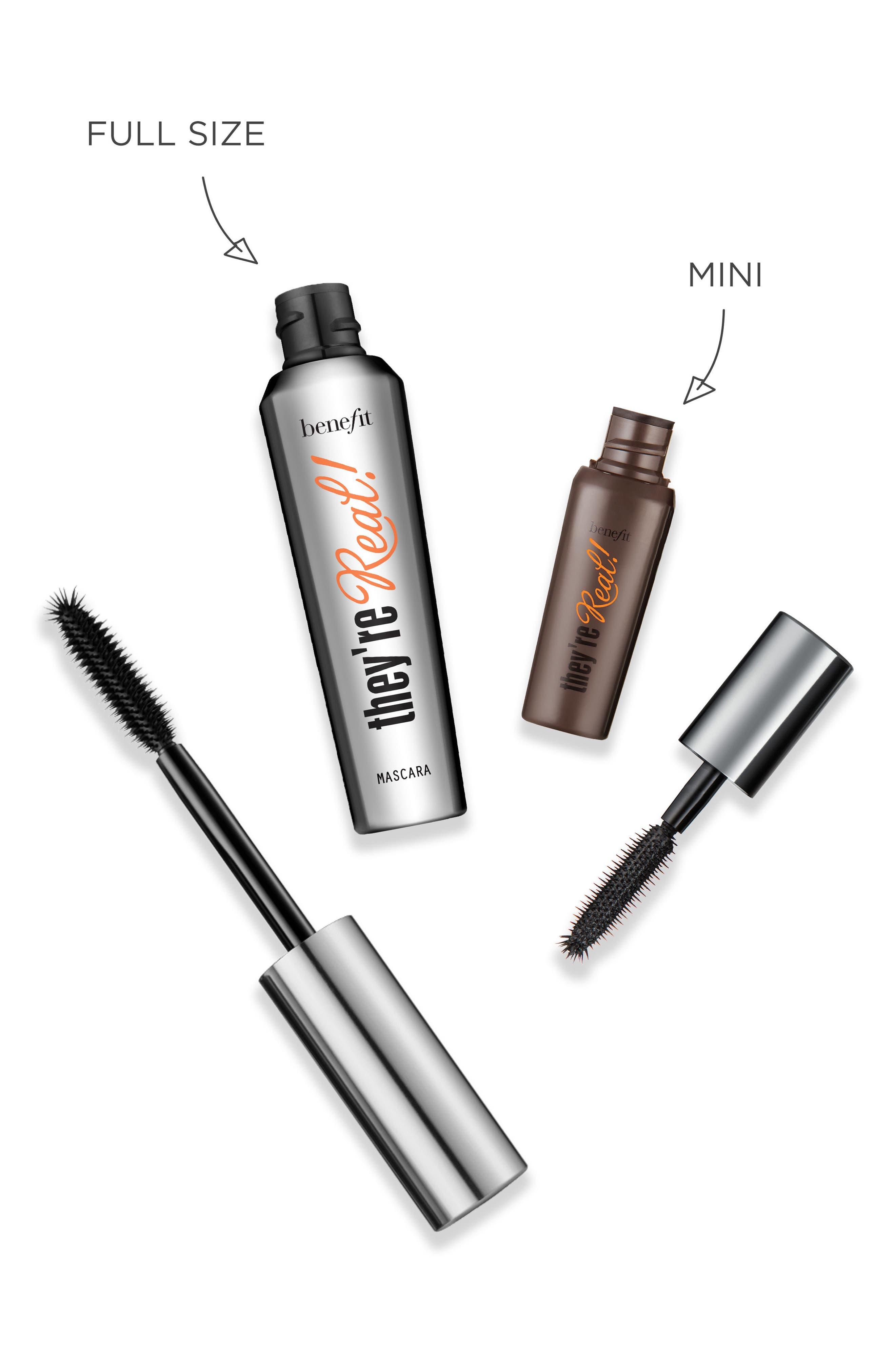 BENEFIT COSMETICS,                             Benefit They're Real! Lengthening & Volumizing Mascara,                             Alternate thumbnail 4, color,                             JET BLACK