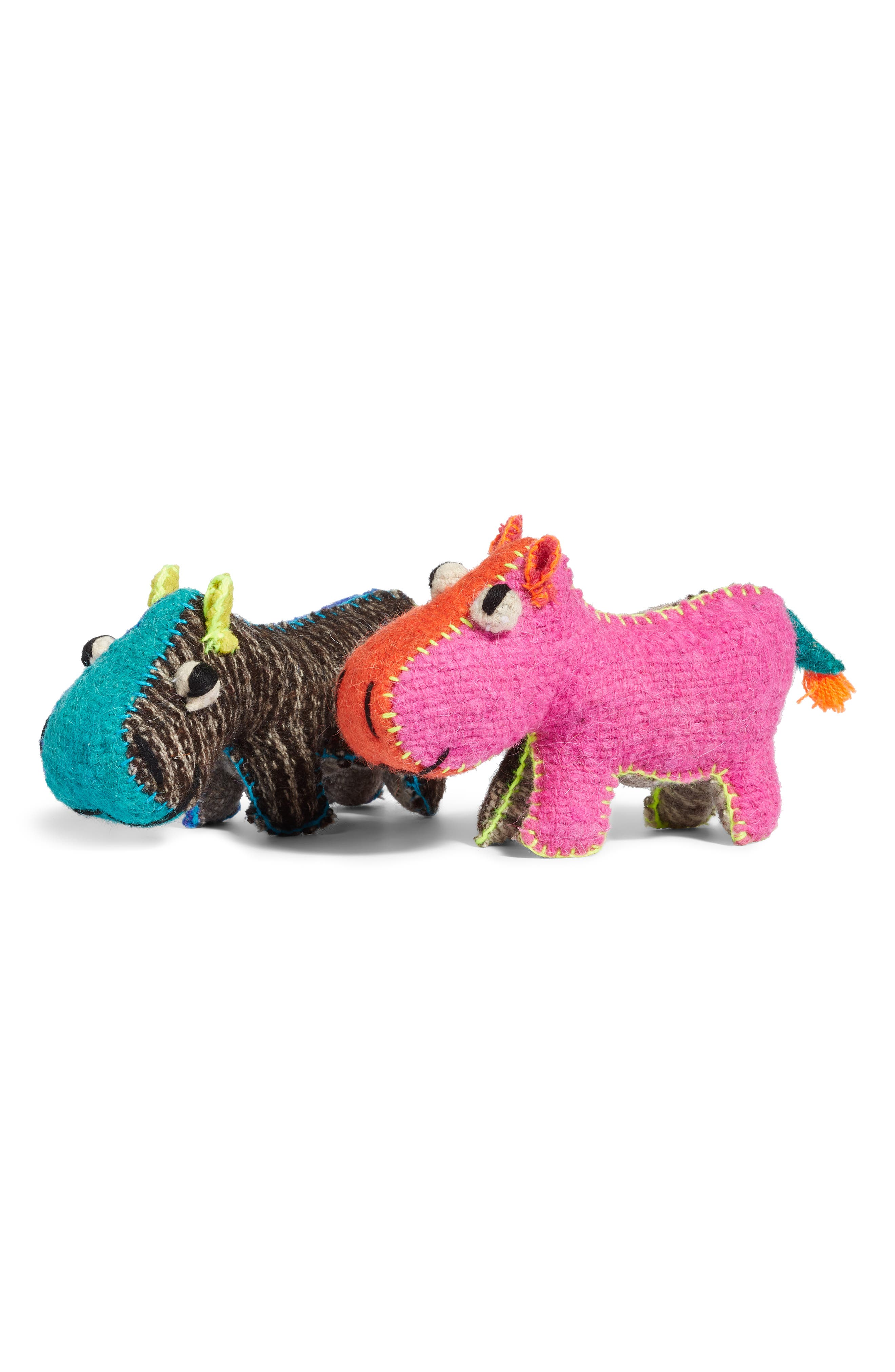 Hippo Stuffed Animal,                             Alternate thumbnail 3, color,                             960