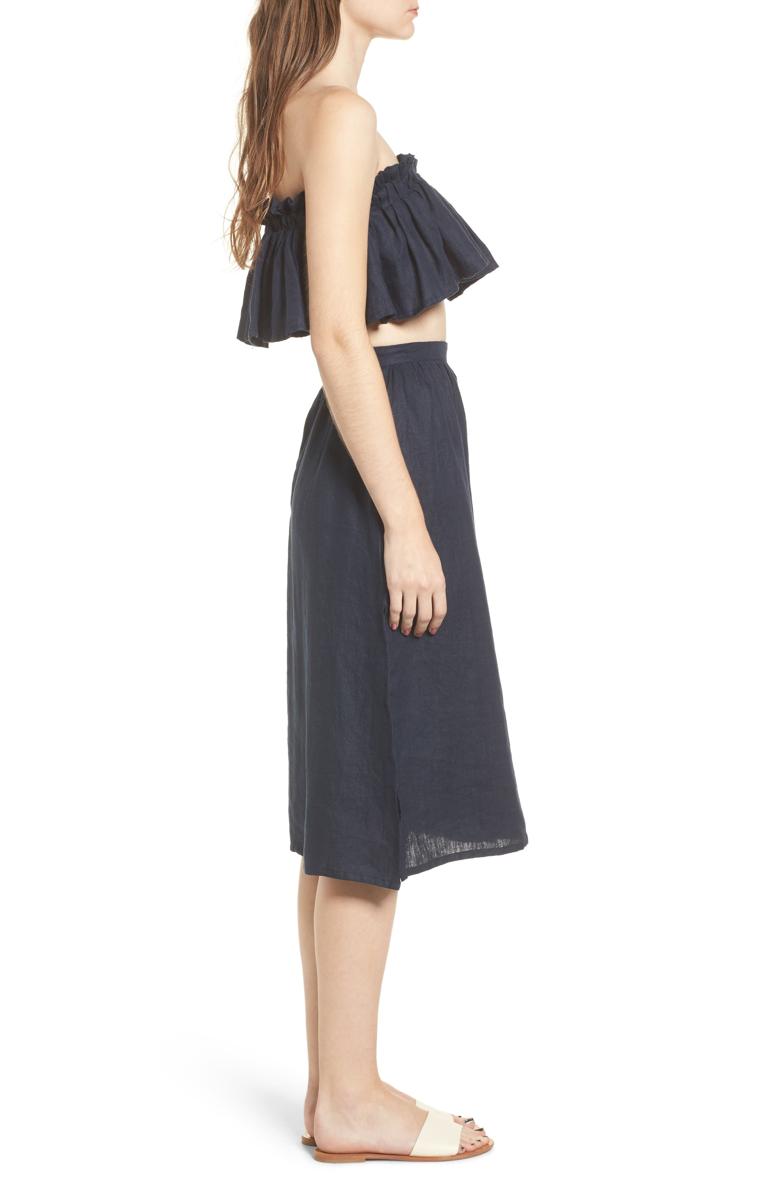 Seine Linen Midi Skirt,                             Alternate thumbnail 9, color,                             400