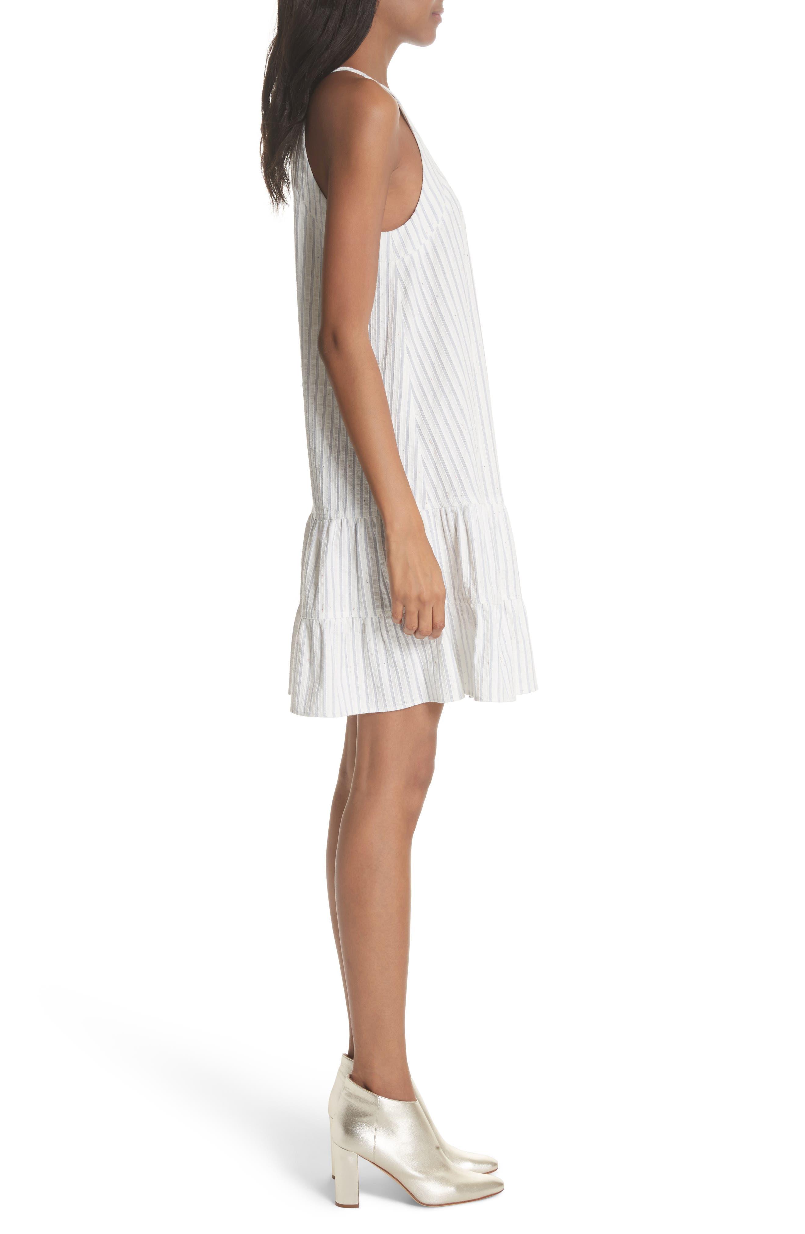 Sleeveless Stripe Tank Dress,                             Alternate thumbnail 3, color,                             421