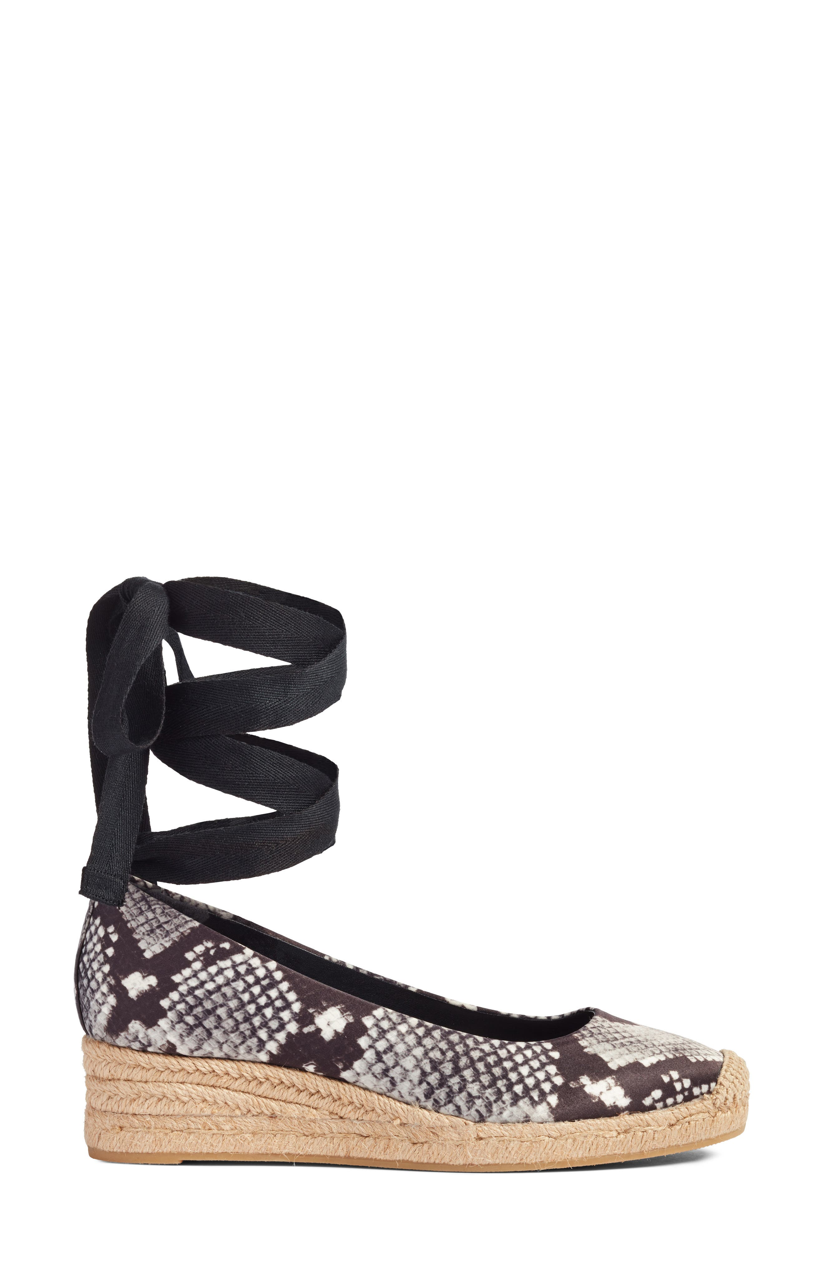 Heather Ankle Wrap Espadrille Wedge,                             Alternate thumbnail 3, color,                             017