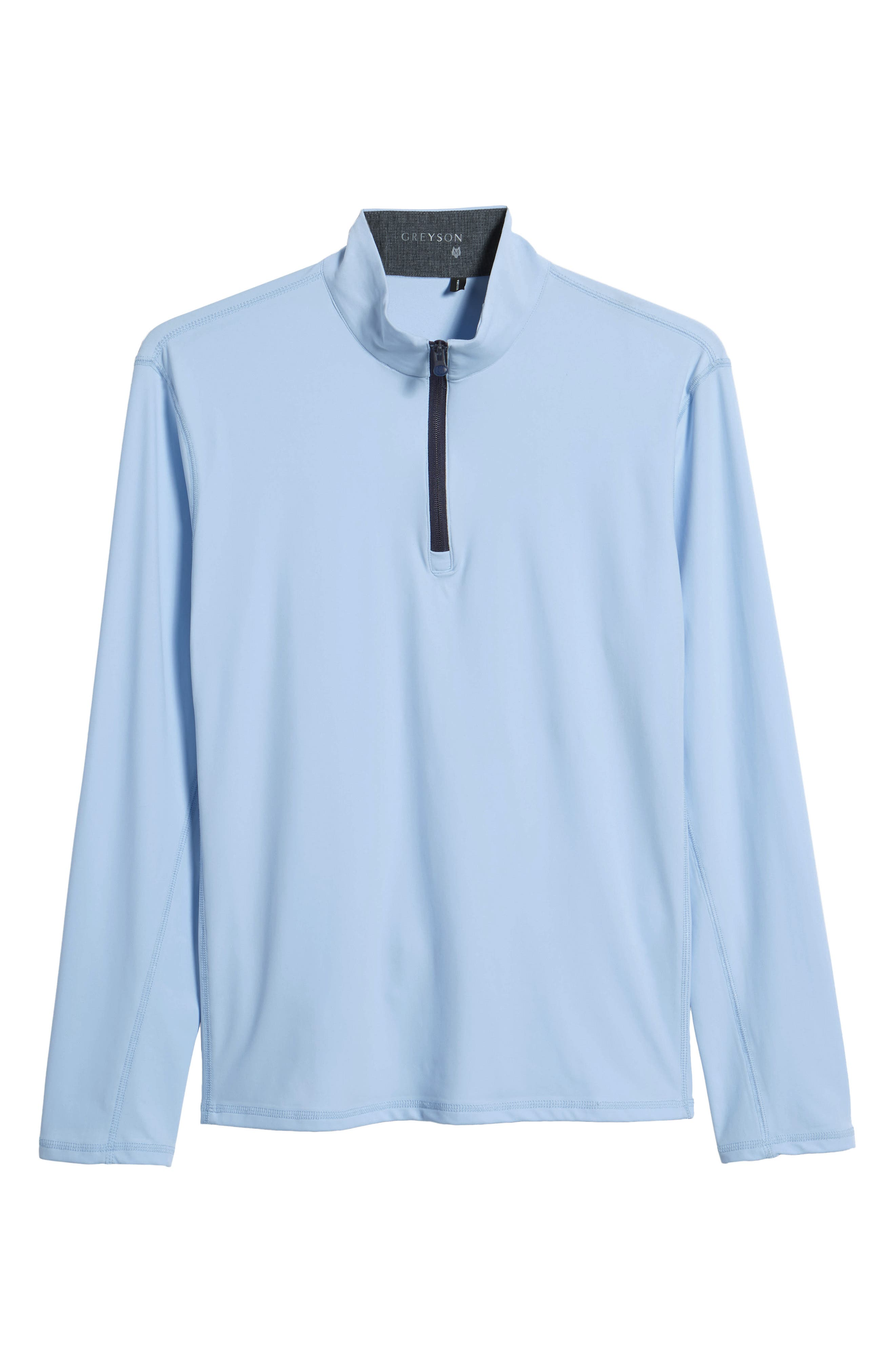 Tate Quarter Zip Pullover,                             Alternate thumbnail 6, color,                             WOLF
