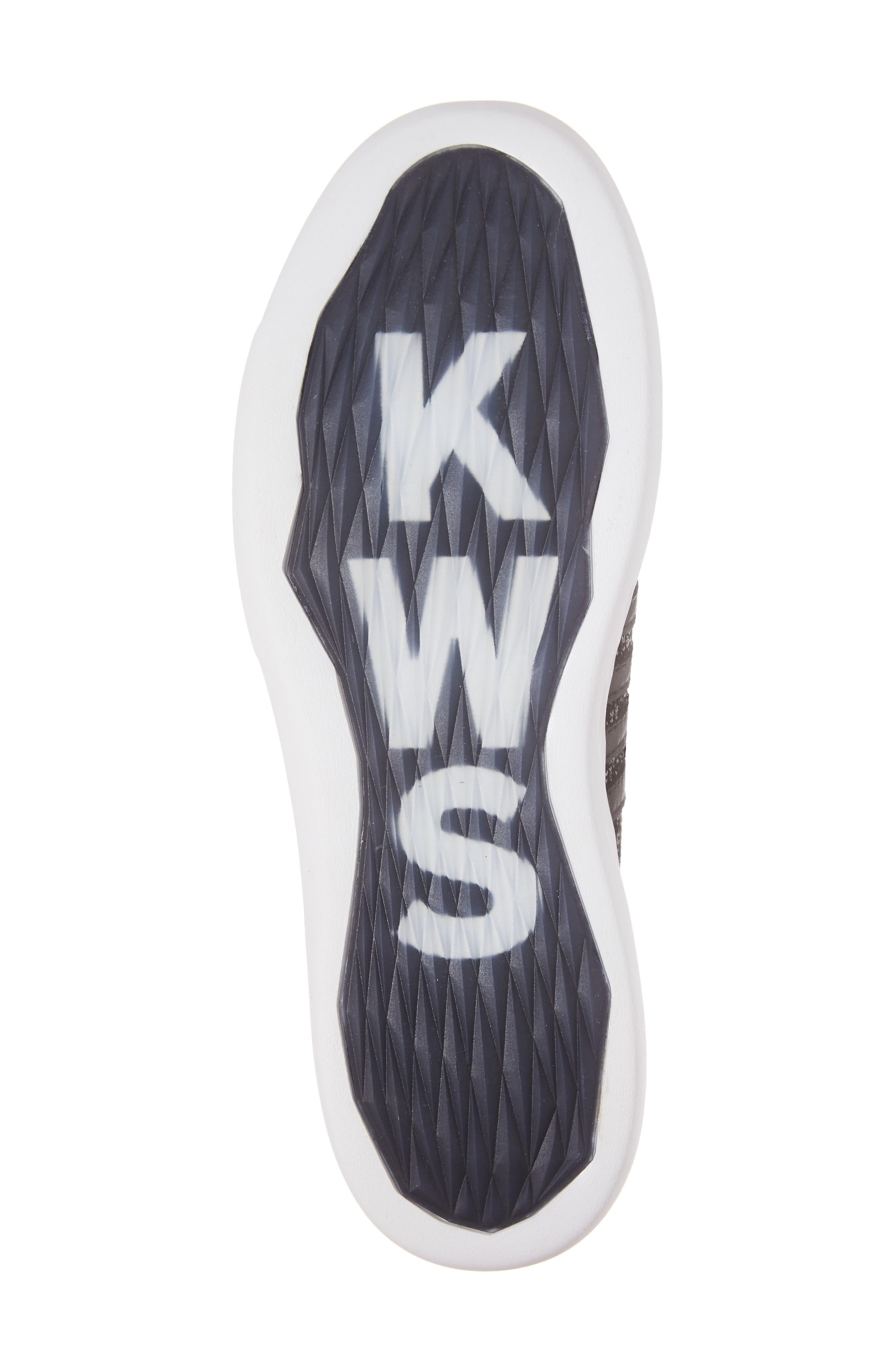 Gen-K Icon Knit Sneaker,                             Alternate thumbnail 6, color,                             BLACK/ GREY HEATHER