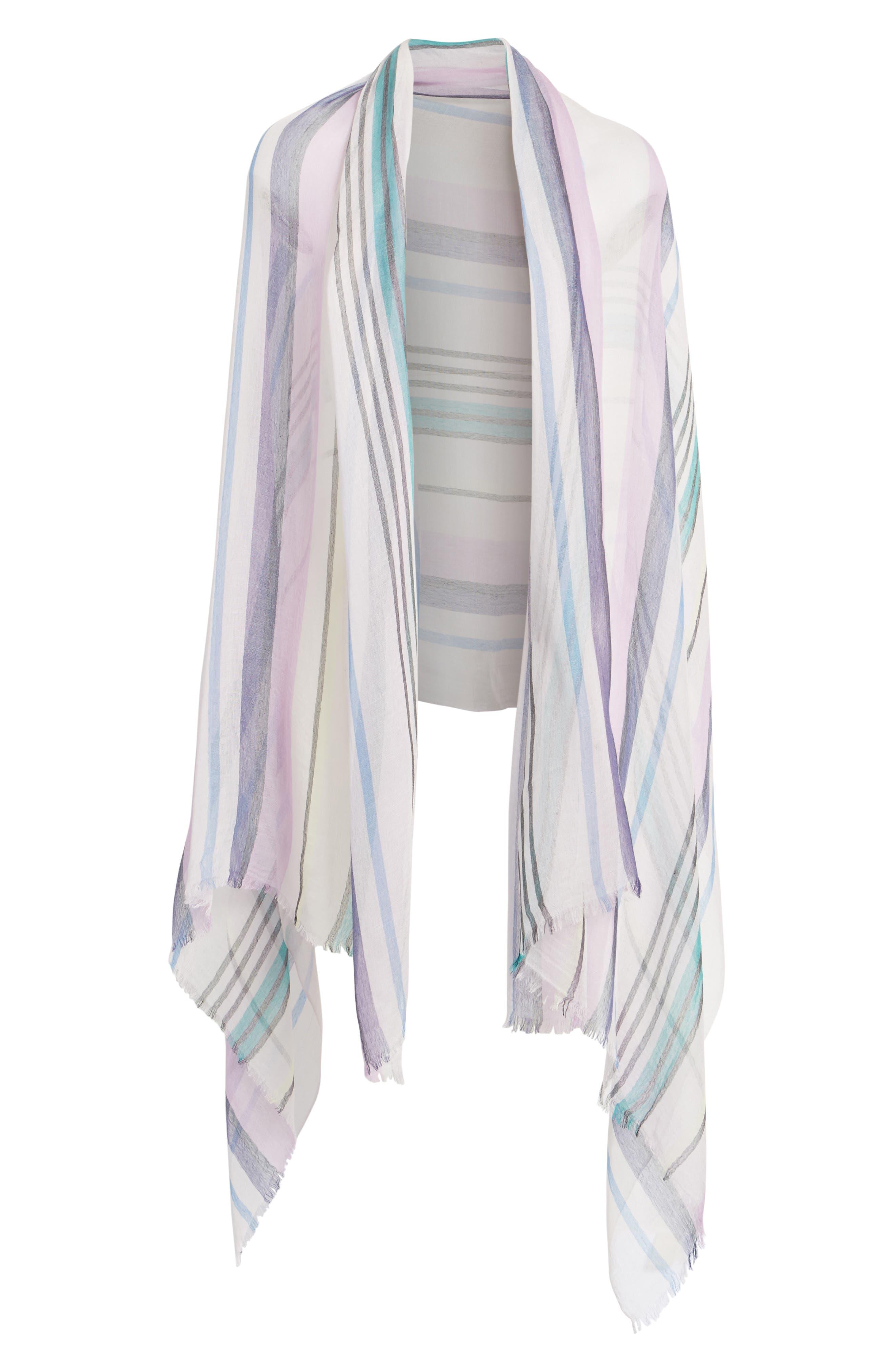 Yarn Dyed Stripe Wrap,                             Alternate thumbnail 9, color,