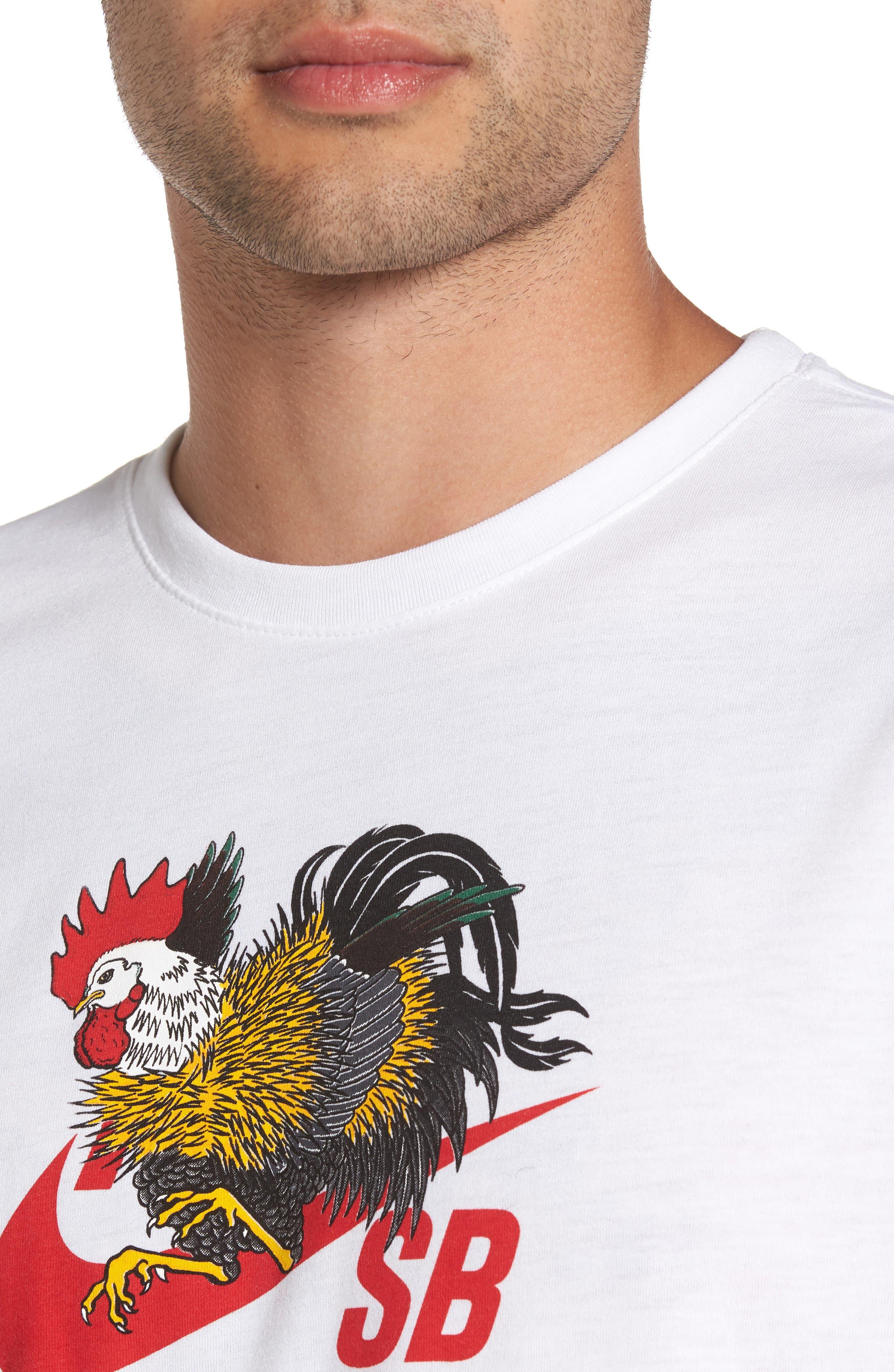 NIKE SB,                             Dry Rooster T-Shirt,                             Alternate thumbnail 4, color,                             100