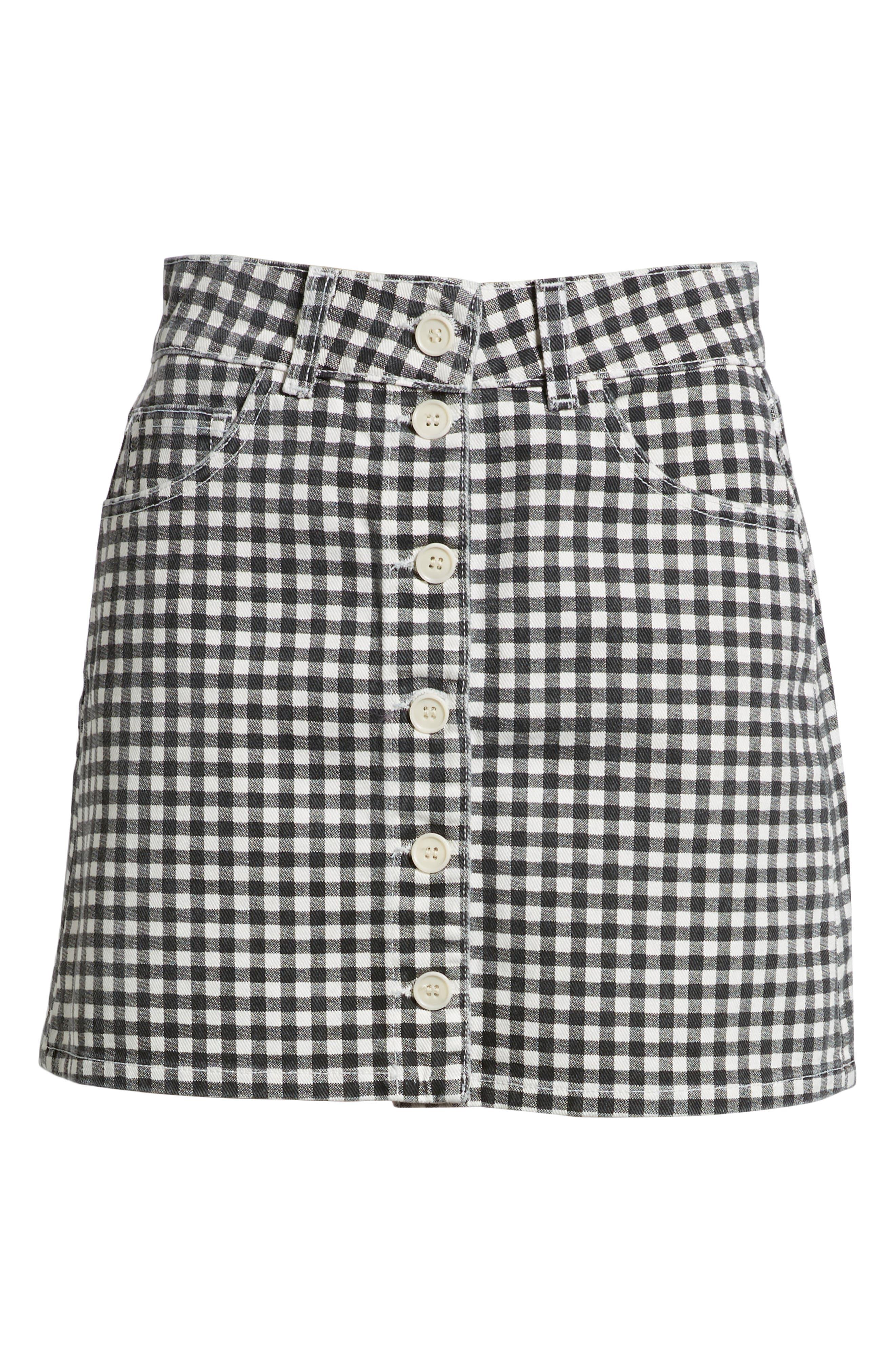 REFORMATION,                             Bianca Denim Miniskirt,                             Alternate thumbnail 6, color,                             001