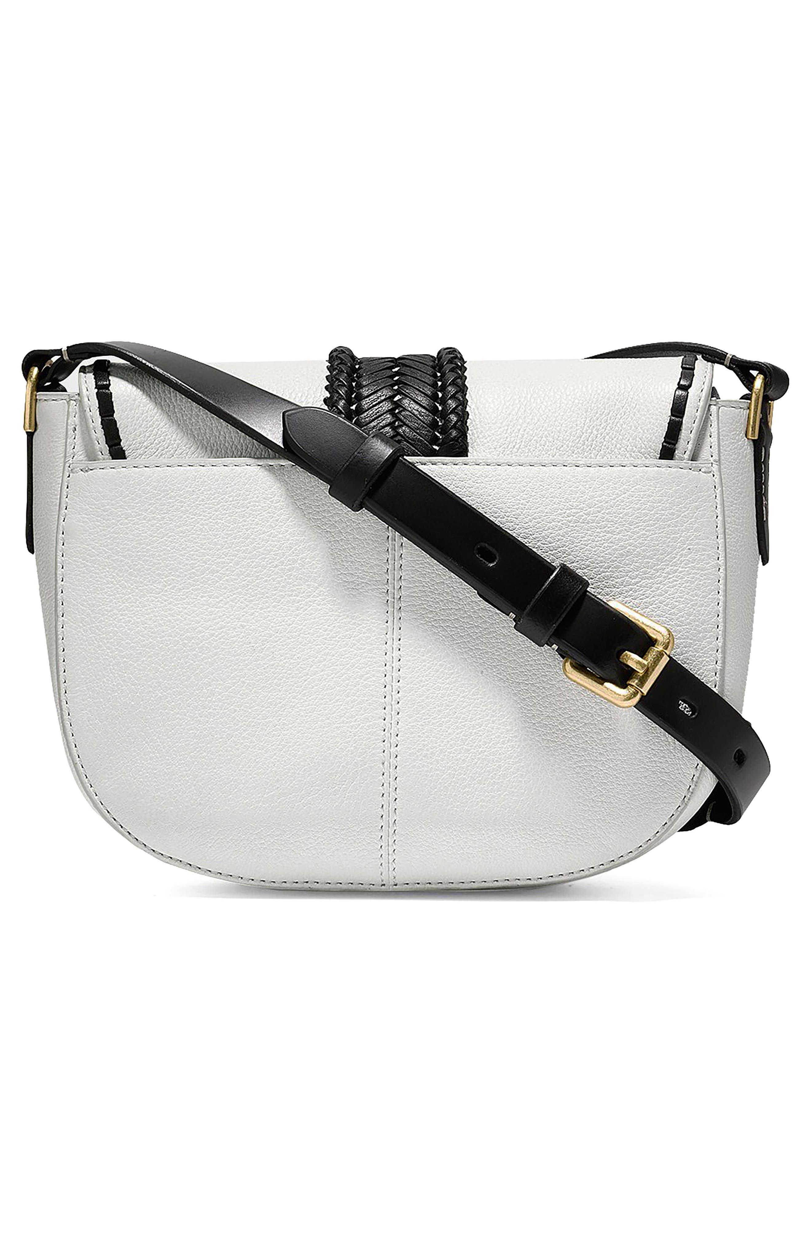 Mini Loralie Whipstitch Leather Saddle Bag,                             Alternate thumbnail 5, color,