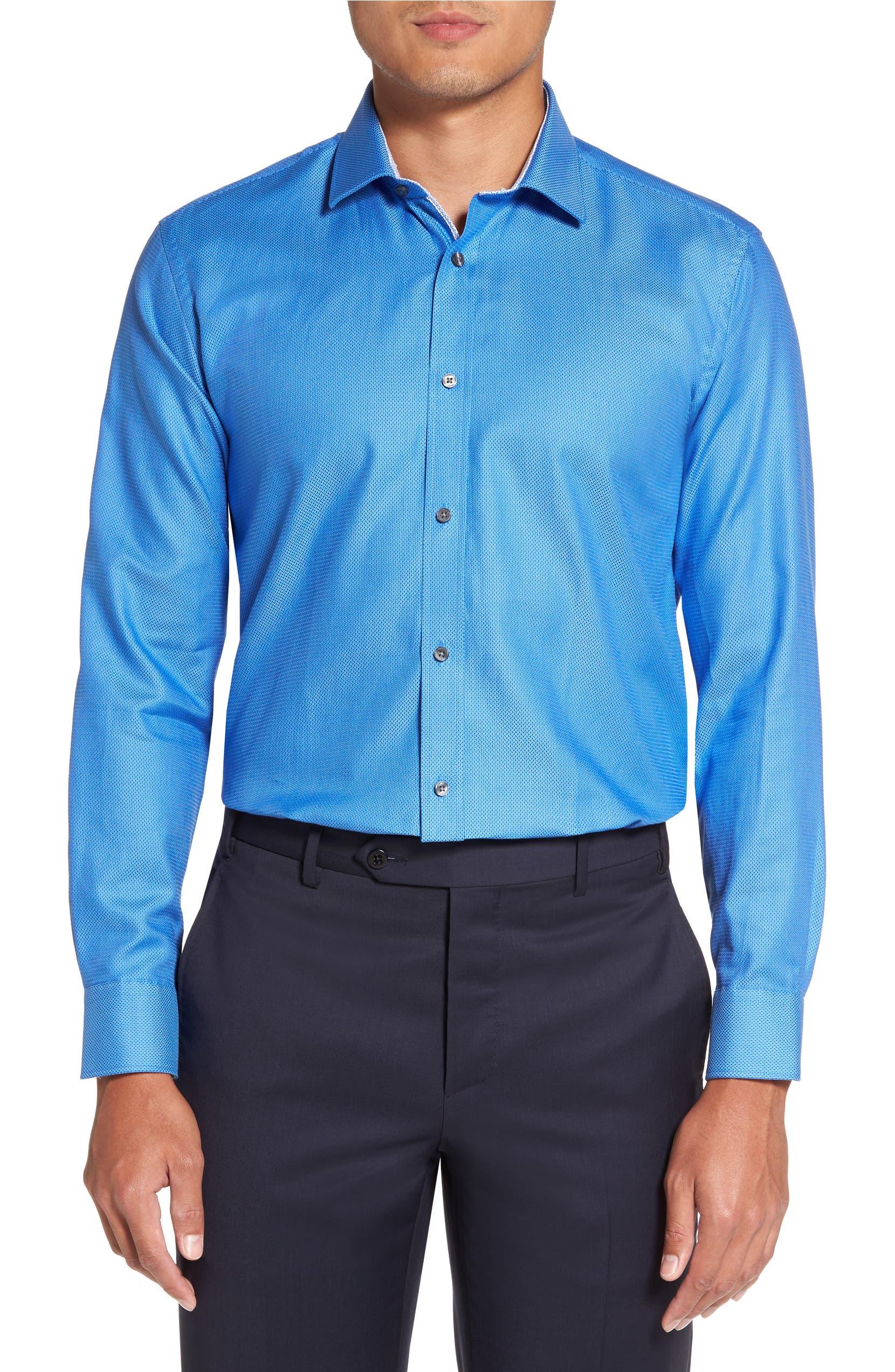 dd0bb8c52ffe8e Ted Baker London Endurance Trim Fit Geometric Dress Shirt