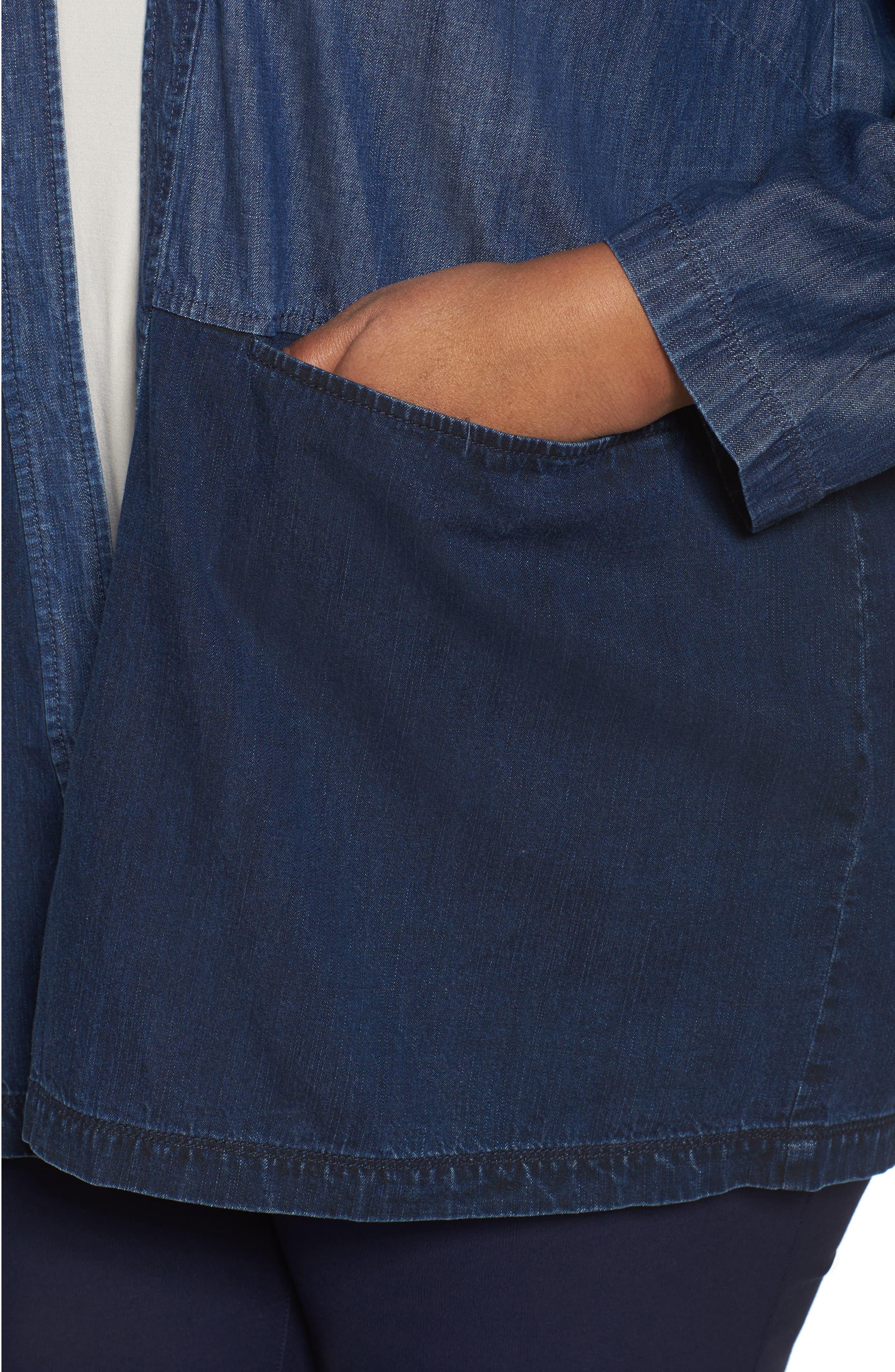 Denim Kimono Jacket,                             Alternate thumbnail 4, color,