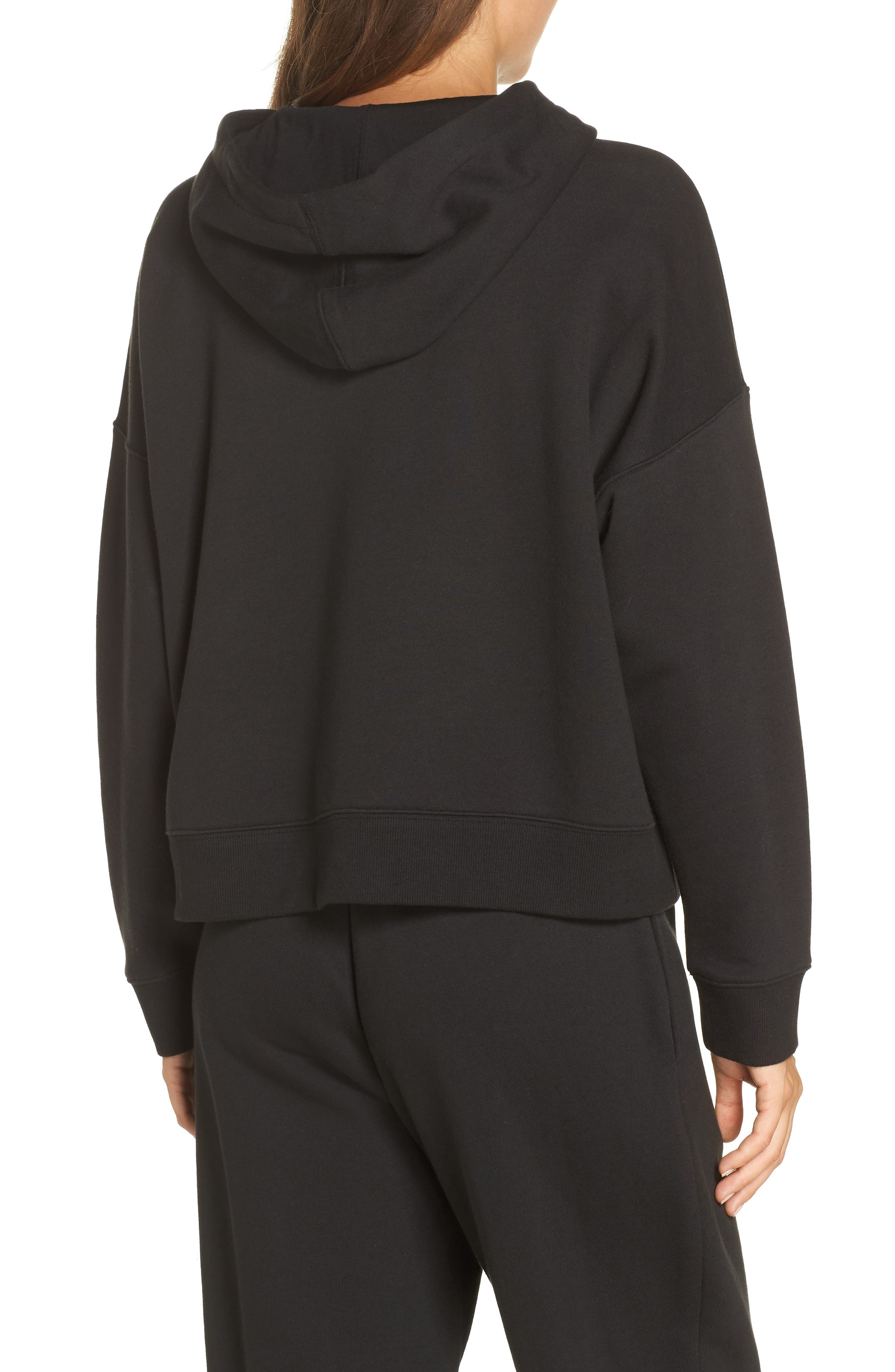 CALVIN KLEIN,                             Monogram Lounge Hoodie,                             Alternate thumbnail 2, color,                             001