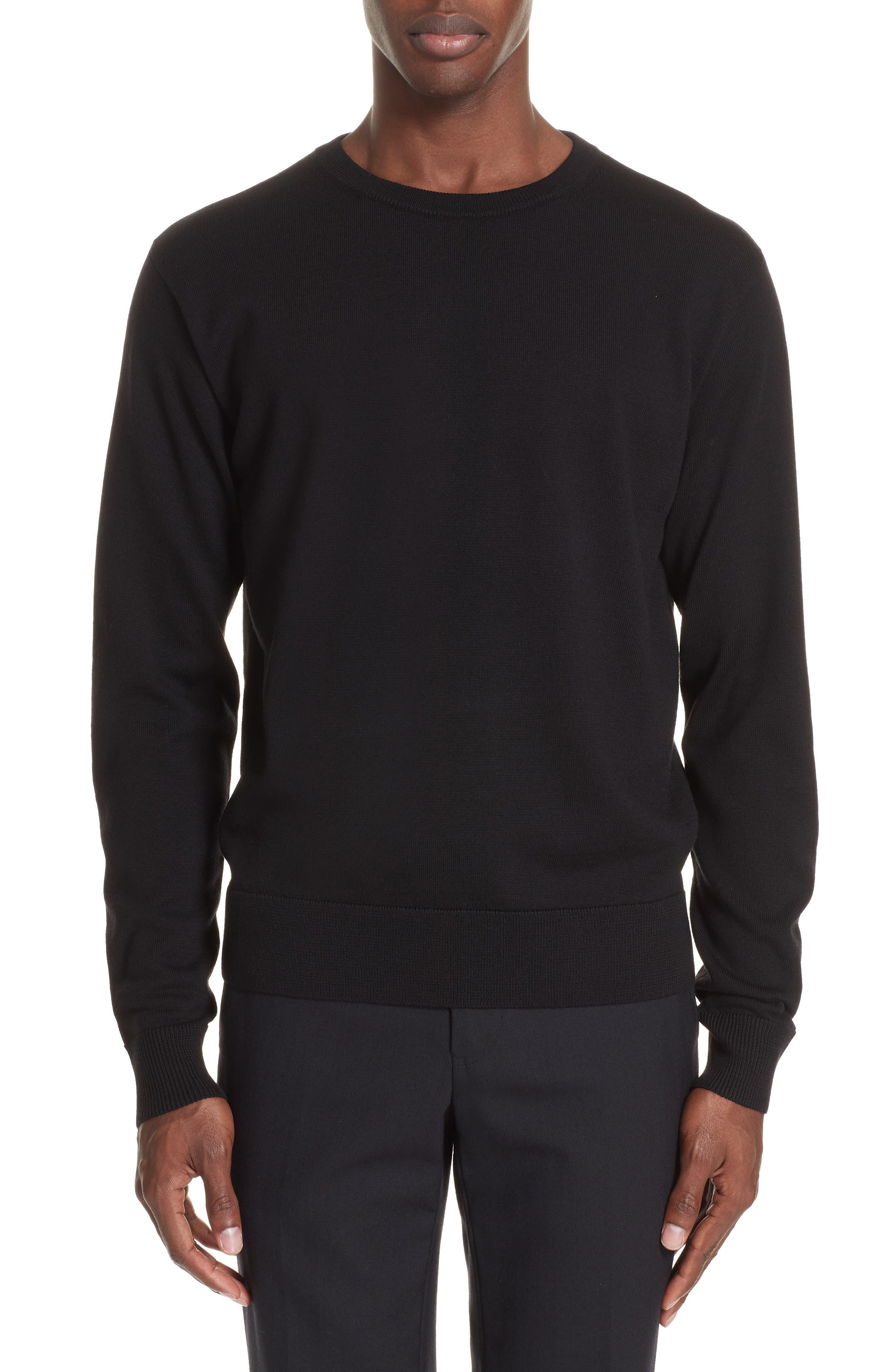 Dries Van Noten Midday Merino Wool Sweater, Black