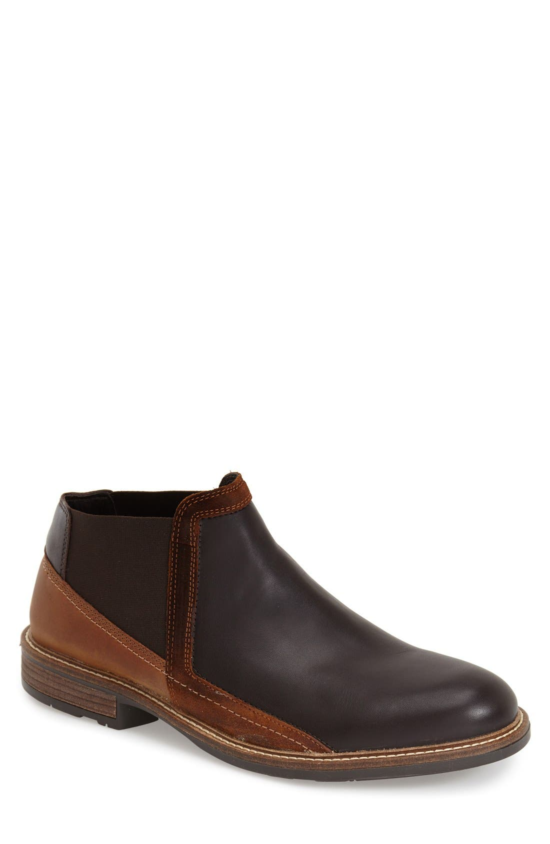 Business Chelsea Boot,                             Main thumbnail 1, color,                             ROAST/SADDLE/ SEAL BROWN SUEDE