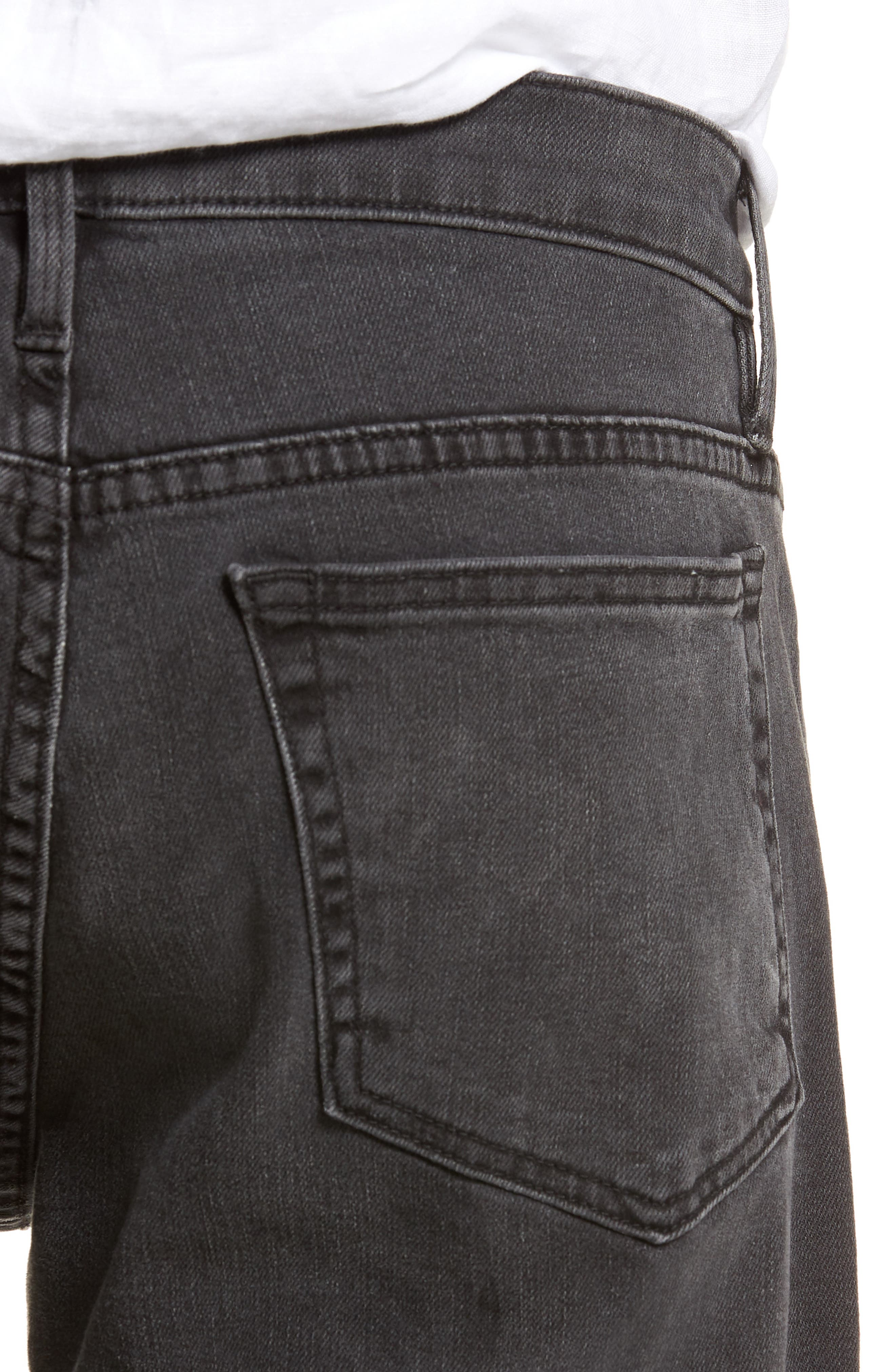 L'Homme Straight Leg Jeans,                             Alternate thumbnail 4, color,                             FADE TO GREY