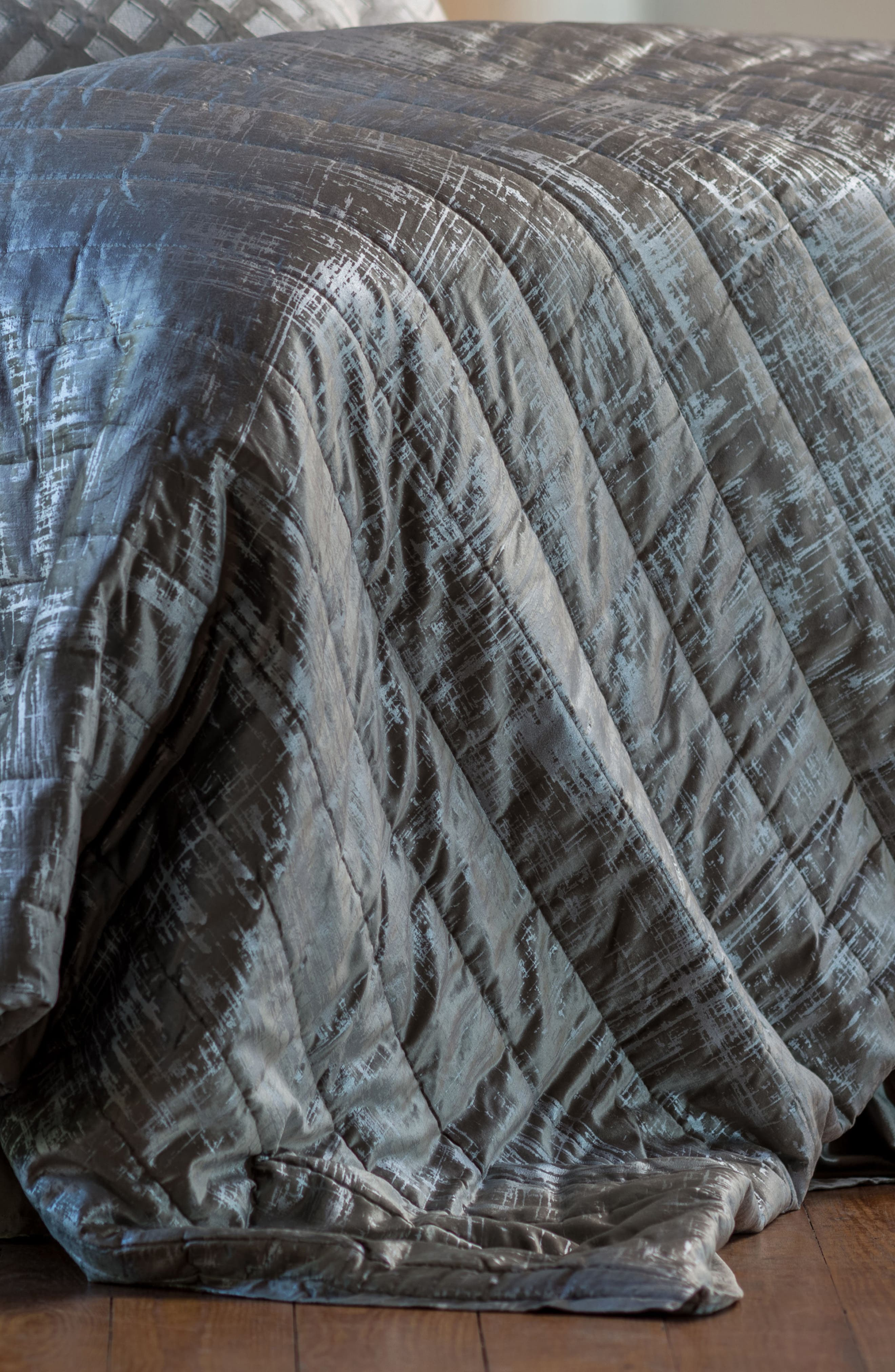 Moderne Quilted Blanket,                             Alternate thumbnail 2, color,                             SILVER