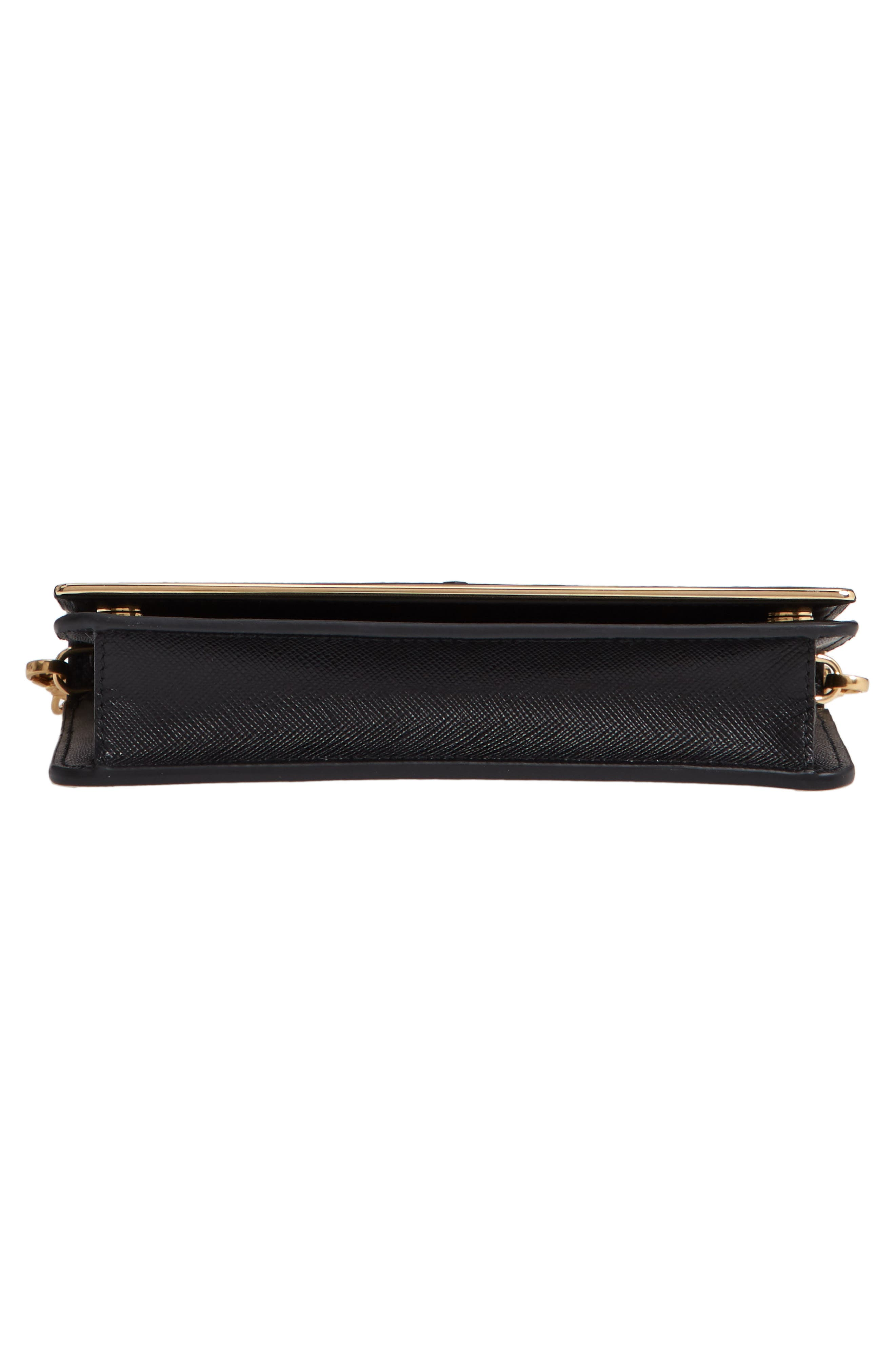Leather Wallet on a Chain,                             Alternate thumbnail 6, color,                             NERO