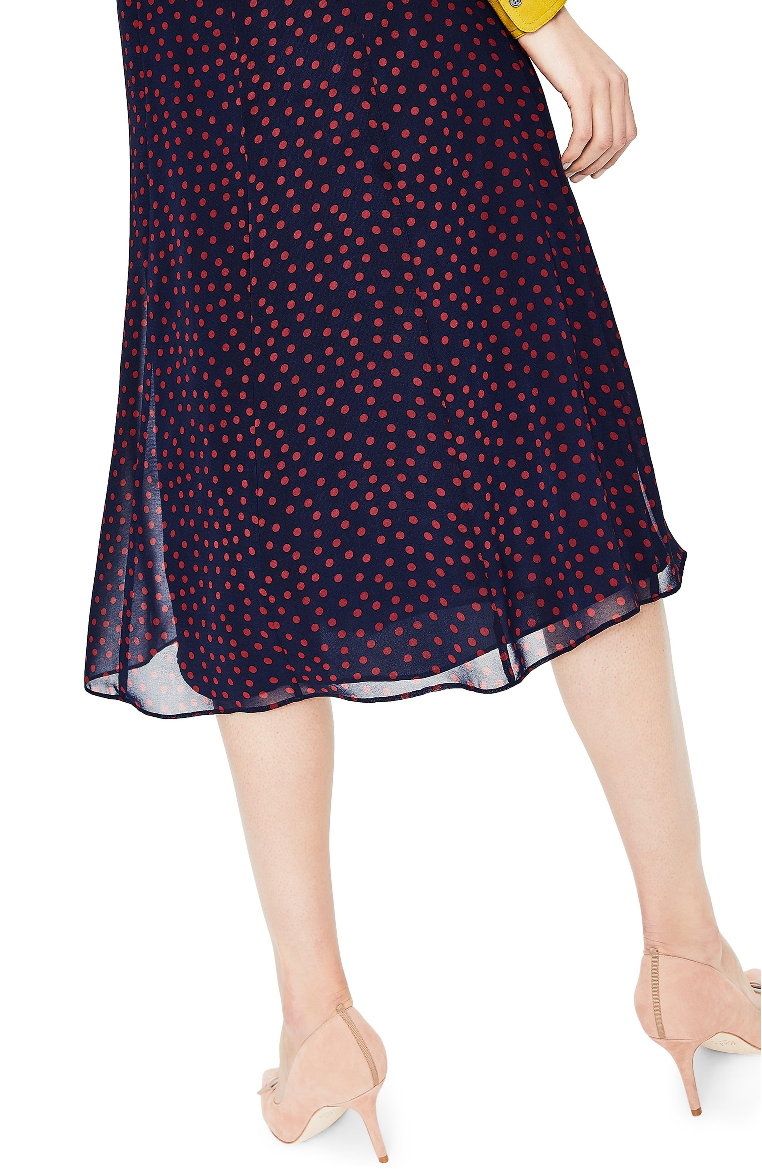 Polka Dot A-Line Skirt,                             Alternate thumbnail 3, color,                             934