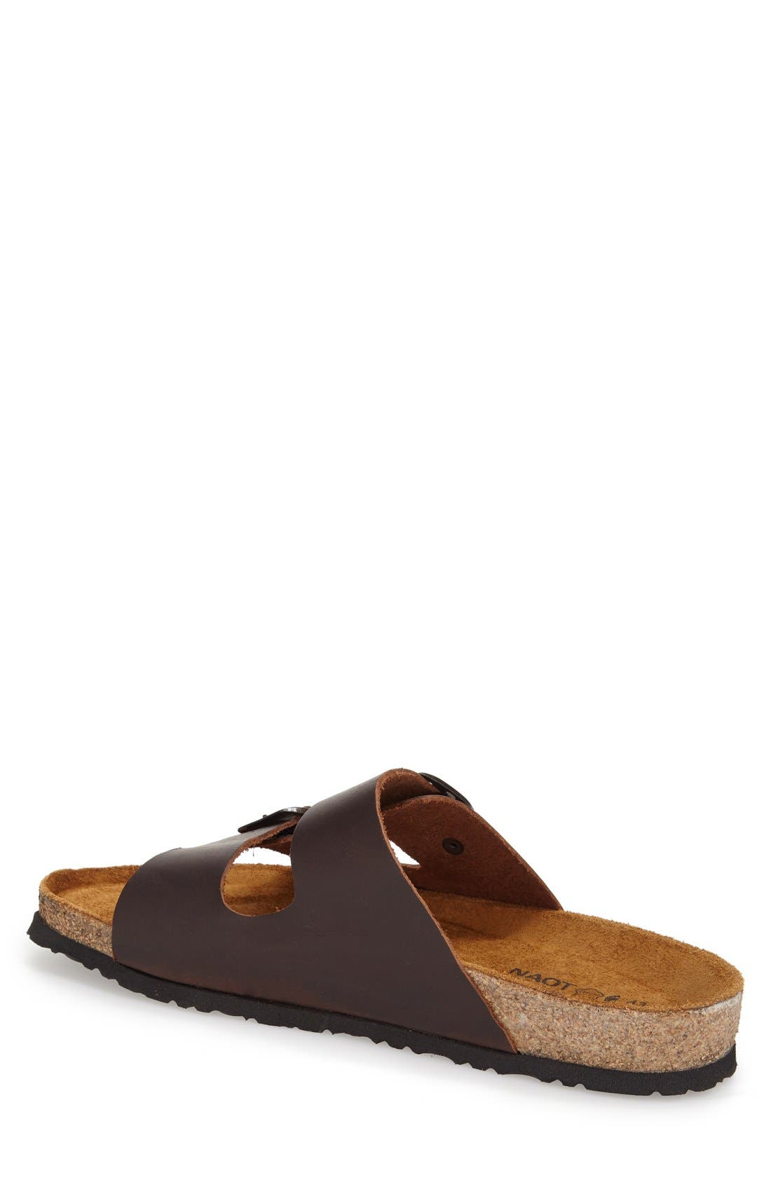 Santa Barbara Slide Sandal,                             Alternate thumbnail 2, color,                             BUFFALO LEATHER