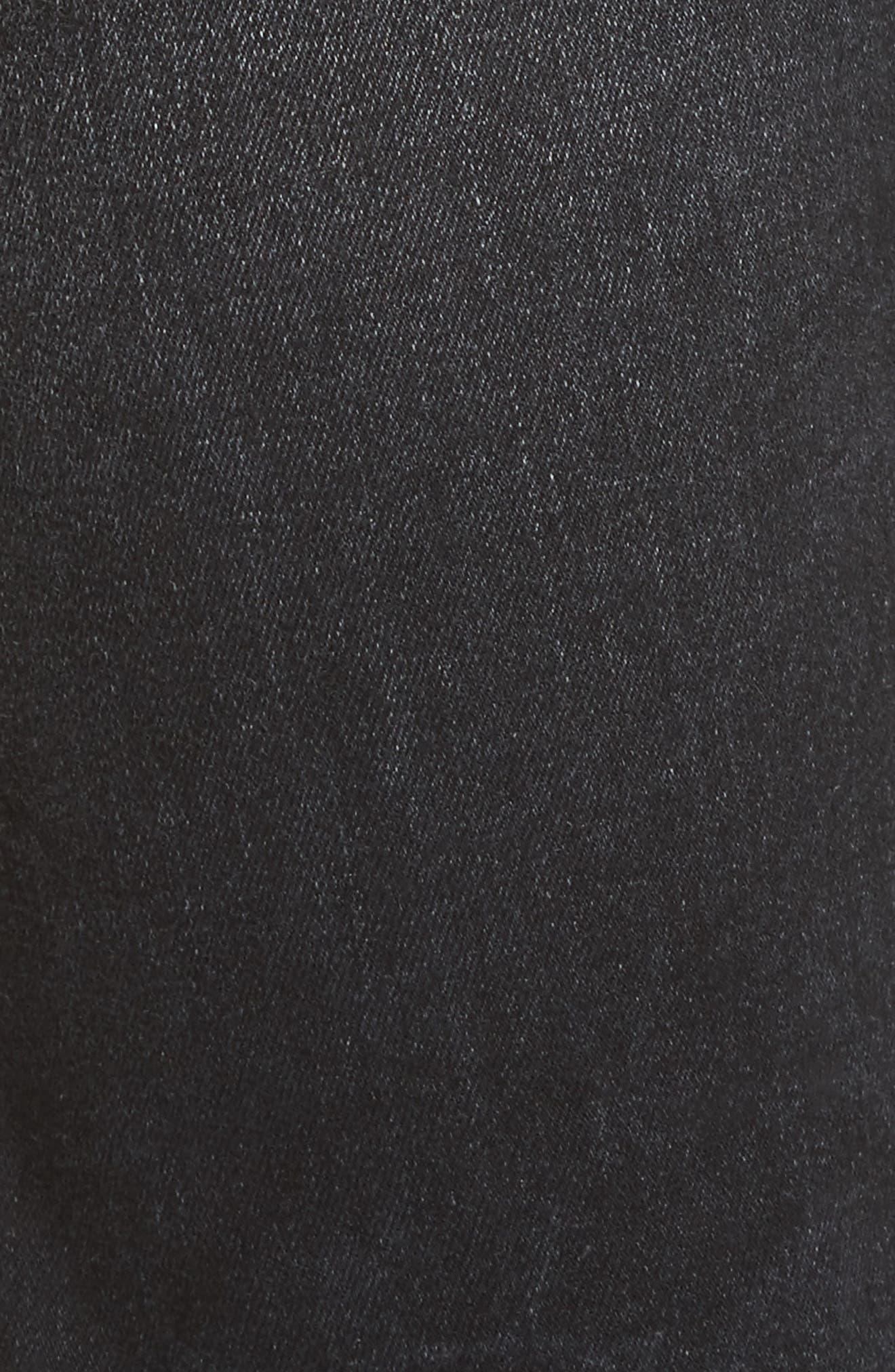 Skate Jeans,                             Alternate thumbnail 5, color,                             BLACK MARBLE