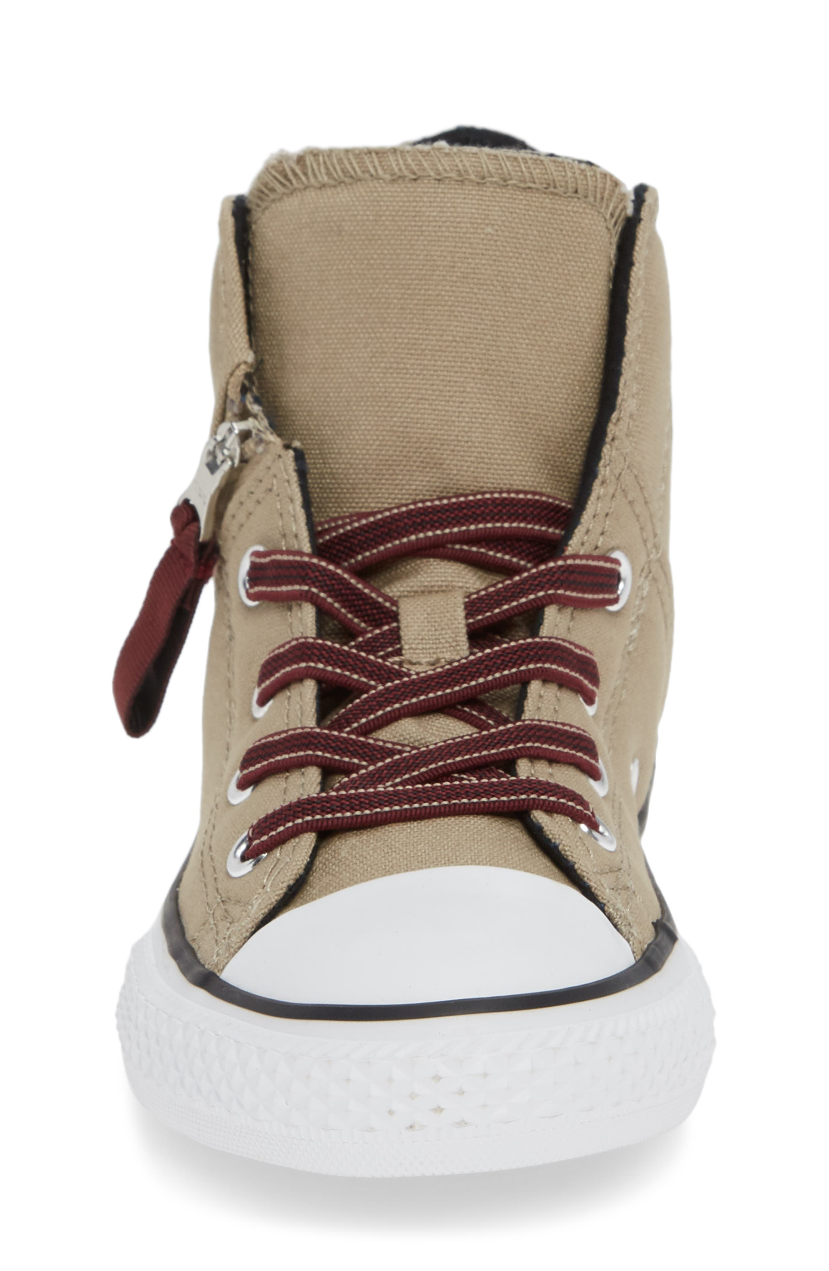 Chuck Taylor<sup>®</sup> All Star<sup>®</sup> Pull Zip High Top Sneaker,                             Alternate thumbnail 4, color,                             KHAKI