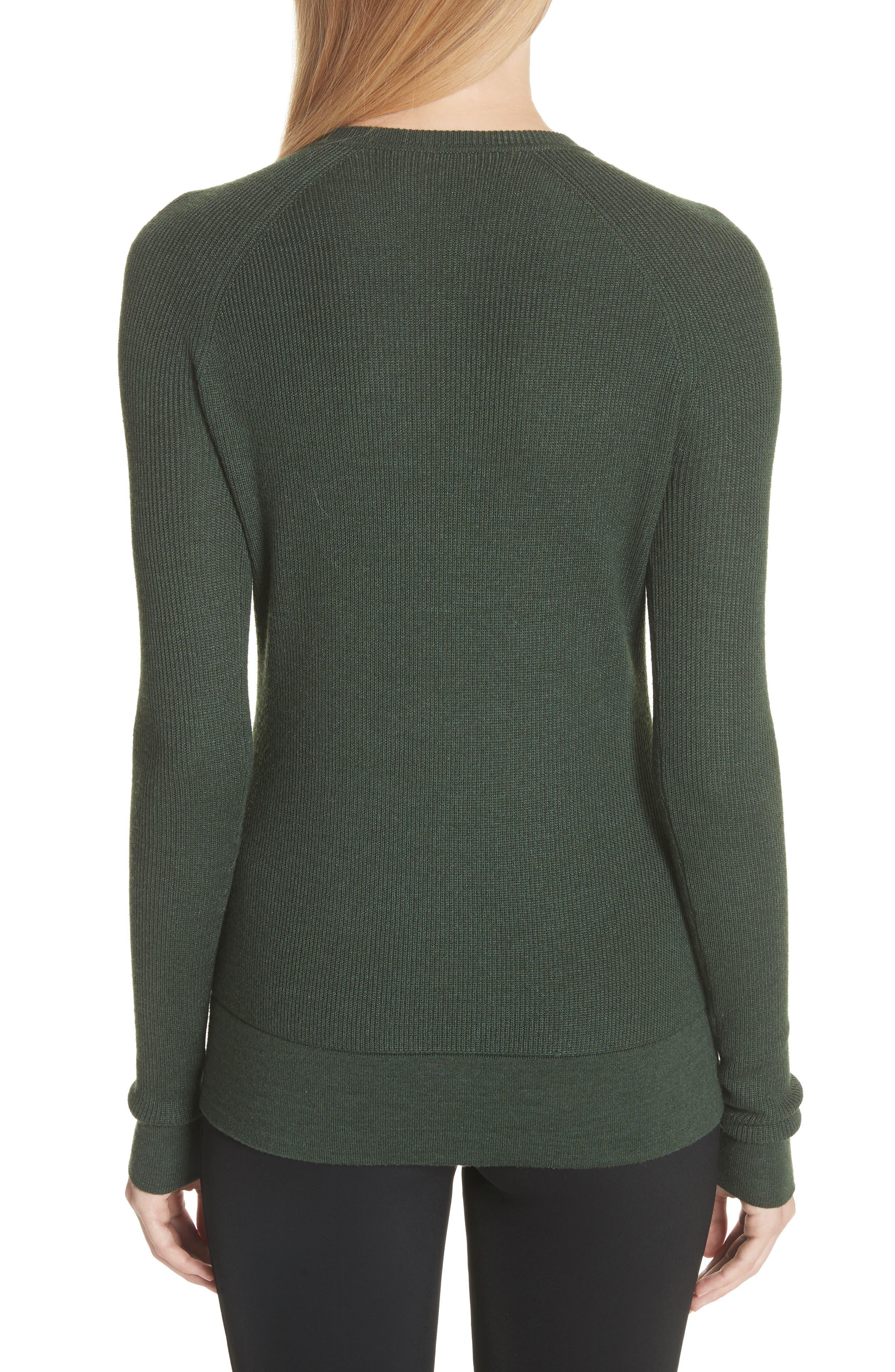 Button Seam Silk & Merino Wool Sweater,                             Alternate thumbnail 2, color,                             368