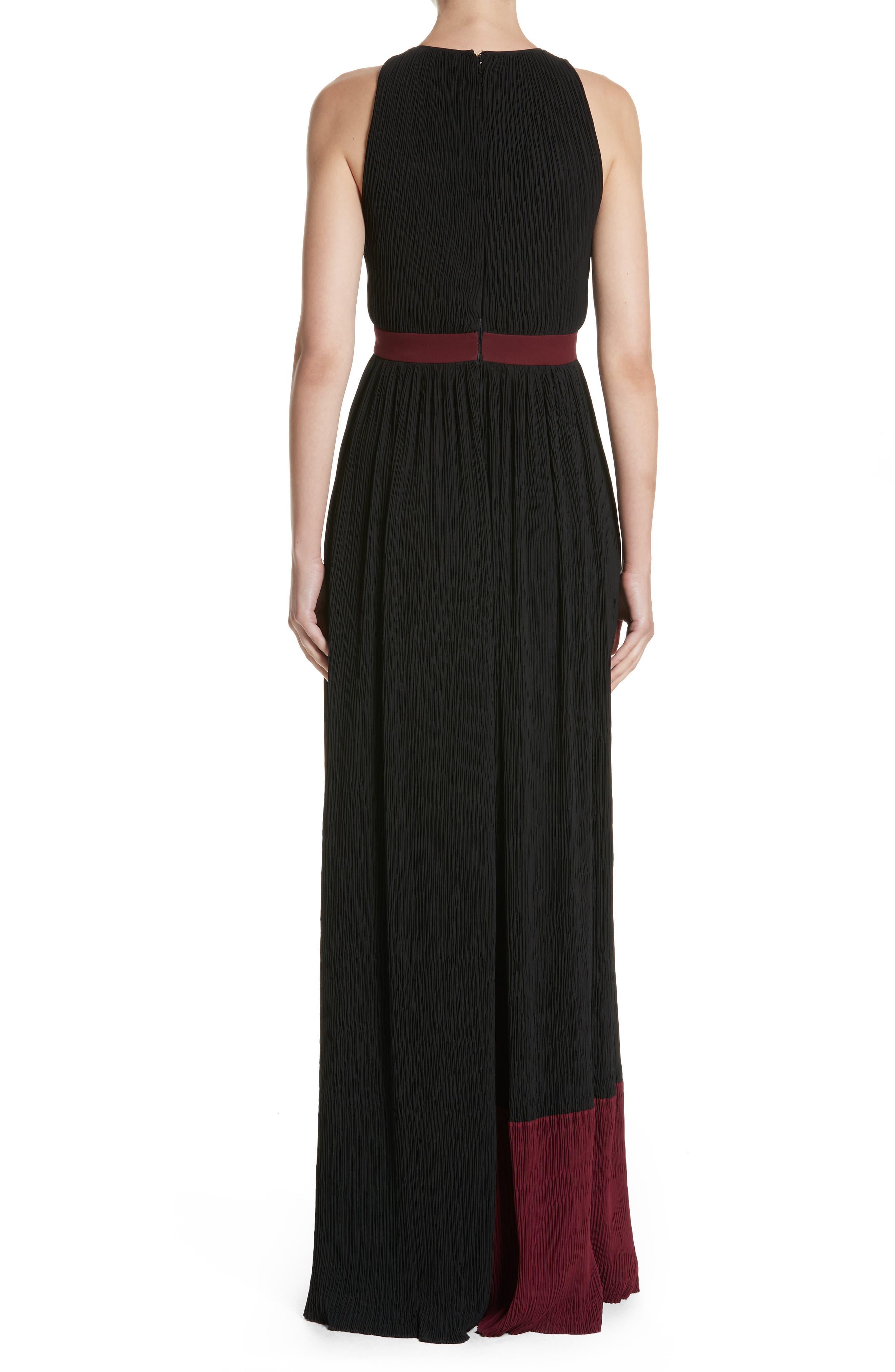 Milda Crystal Pleat Dress,                             Alternate thumbnail 2, color,                             010