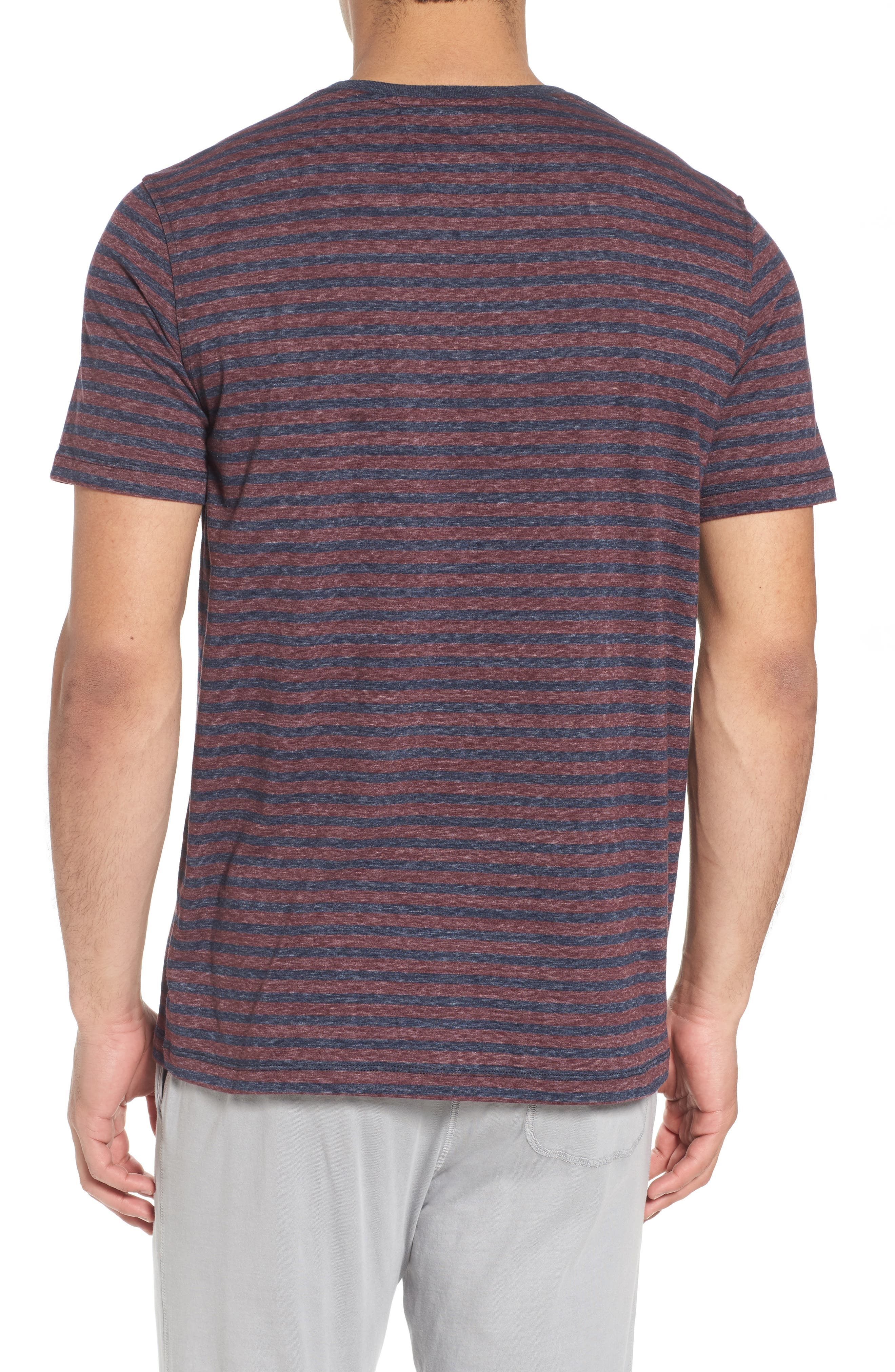 Crewneck Recycled Cotton Blend T-Shirt,                             Alternate thumbnail 2, color,                             482